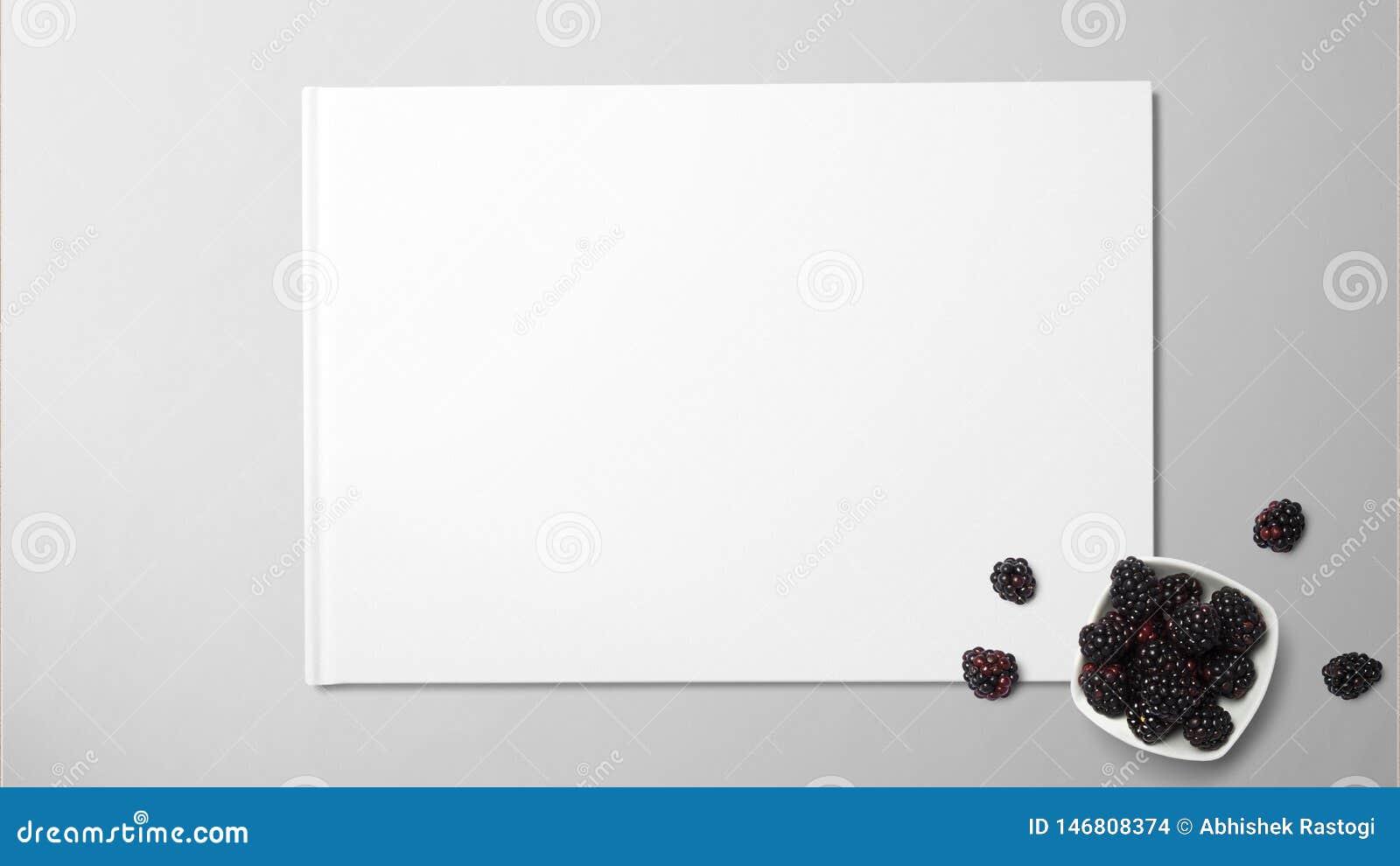 Fruto da amoreira no Livro Branco no fundo isolado