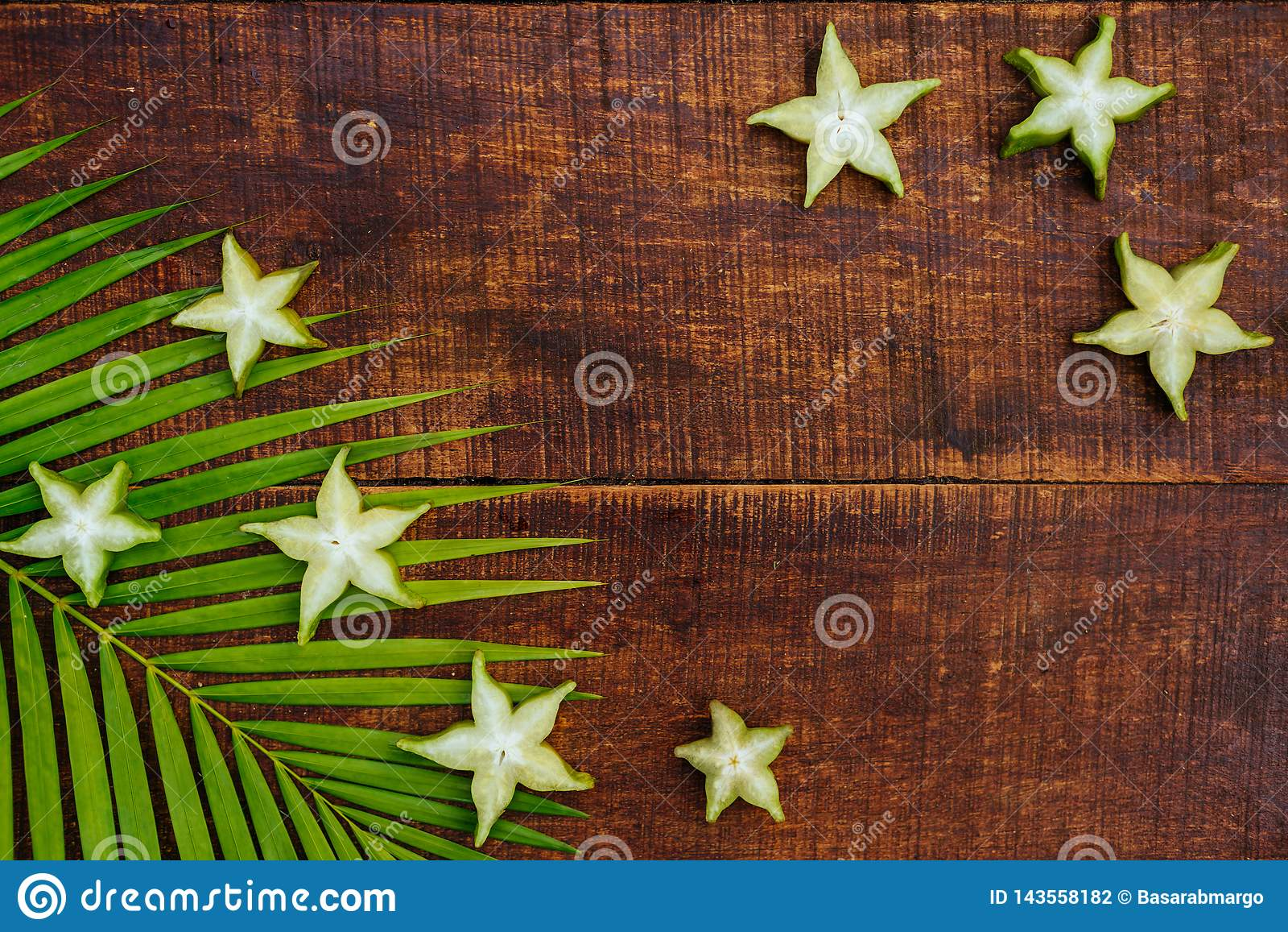 Fruto de estrela, starfruit ou maçã de estrela