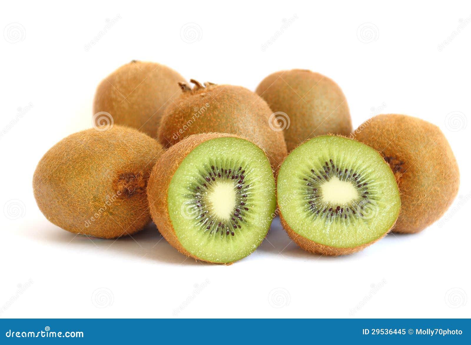 Fruto de quivi no fundo branco