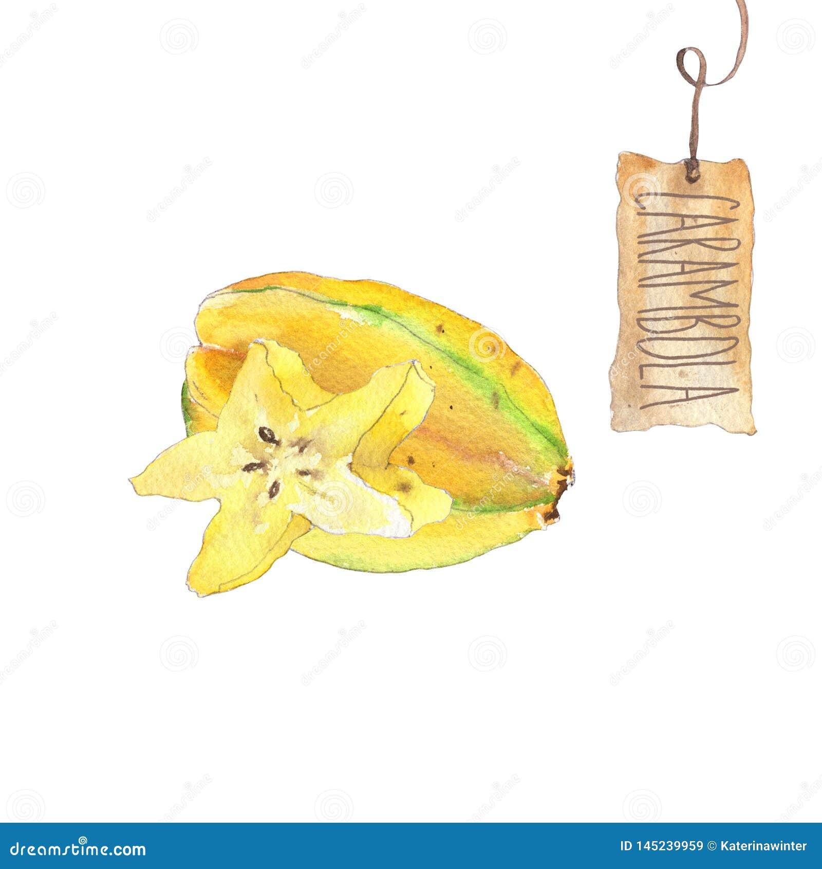 Fruto do Carambola com fatia
