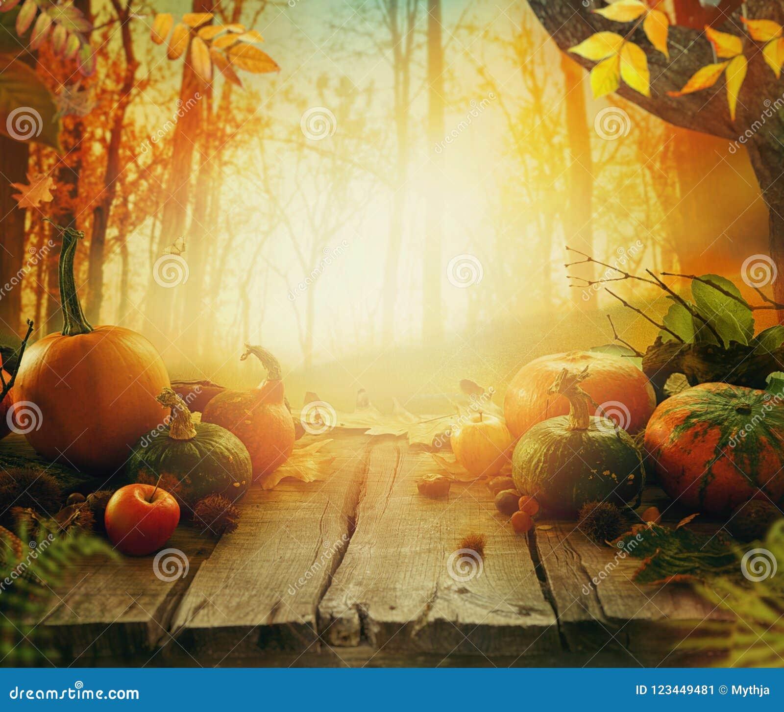 Fruto do outono na tabela