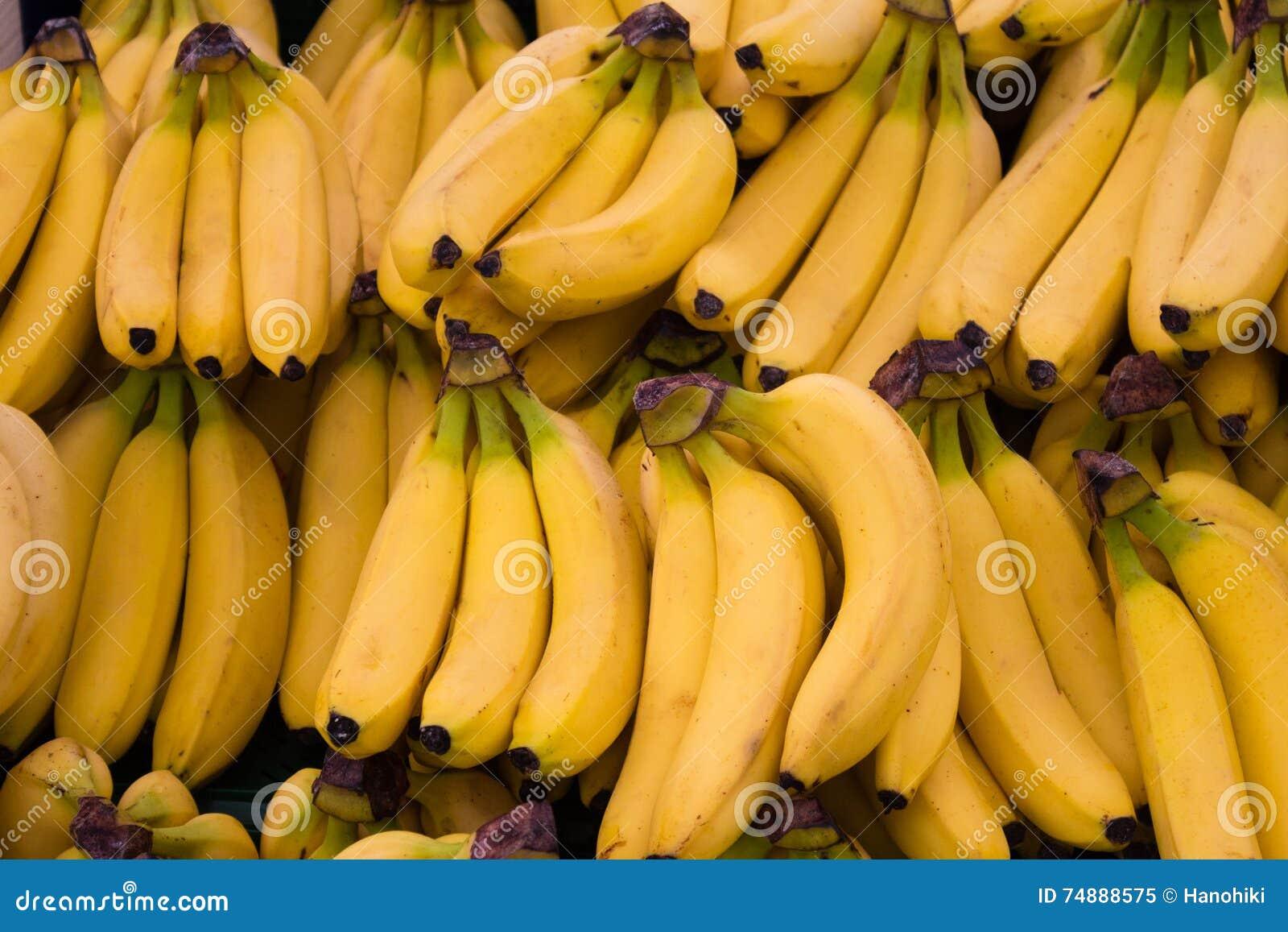 Frutos da banana - fundo do alimento