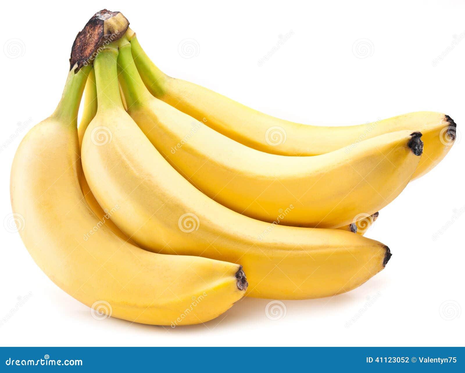 Frutos da banana sobre sobre o branco