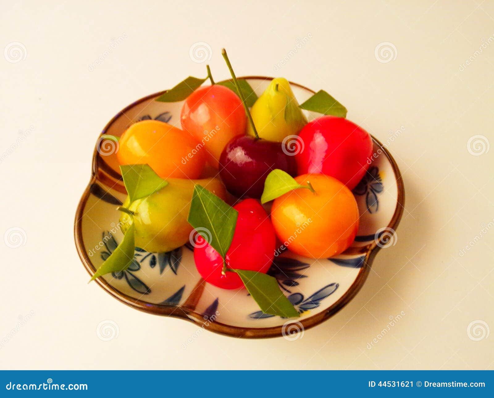 Frutos de imitação Deletable