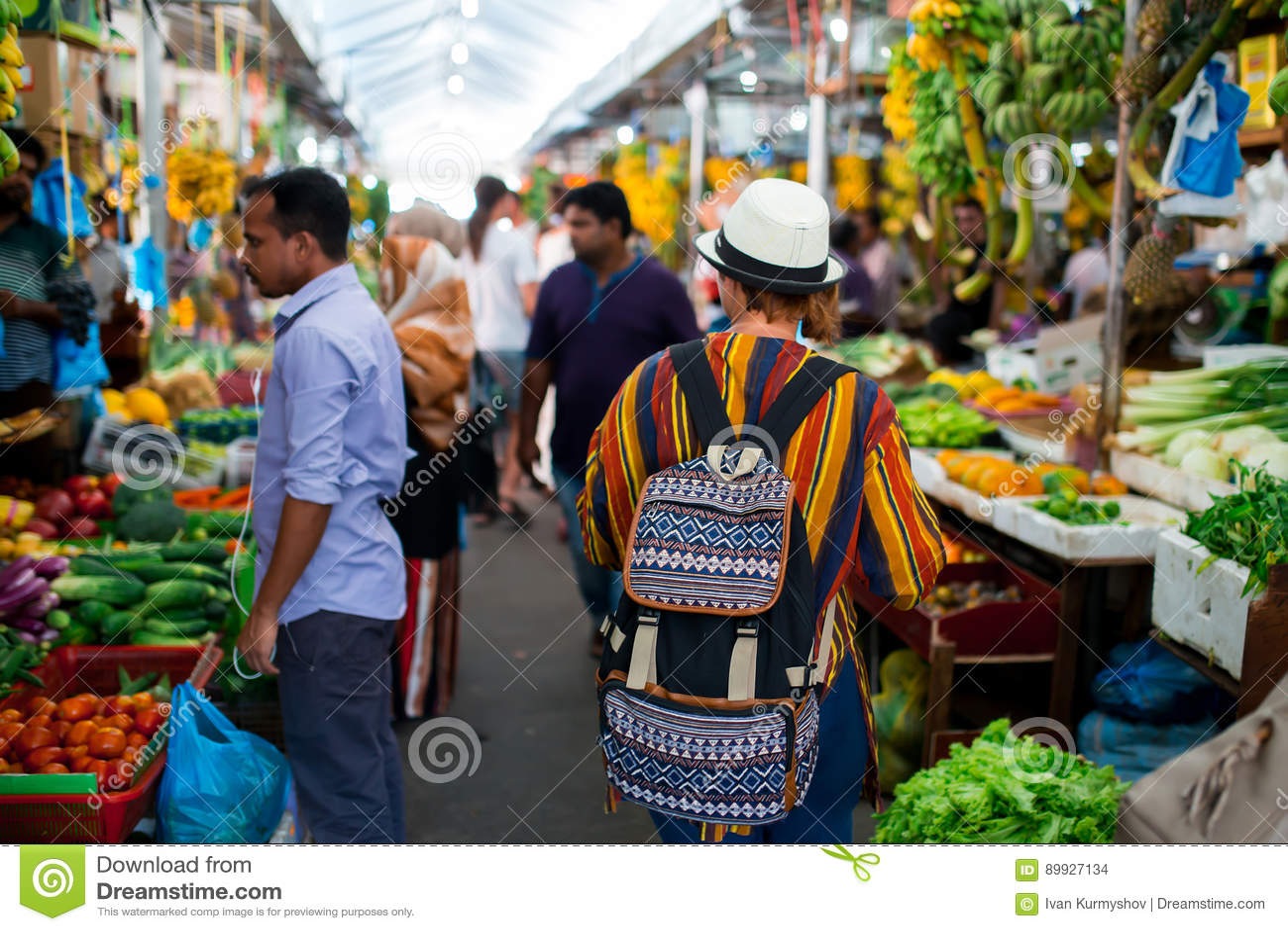 Frutta all interno fresca e mercato nel maschio della città, la capitale delle verdure delle Maldive