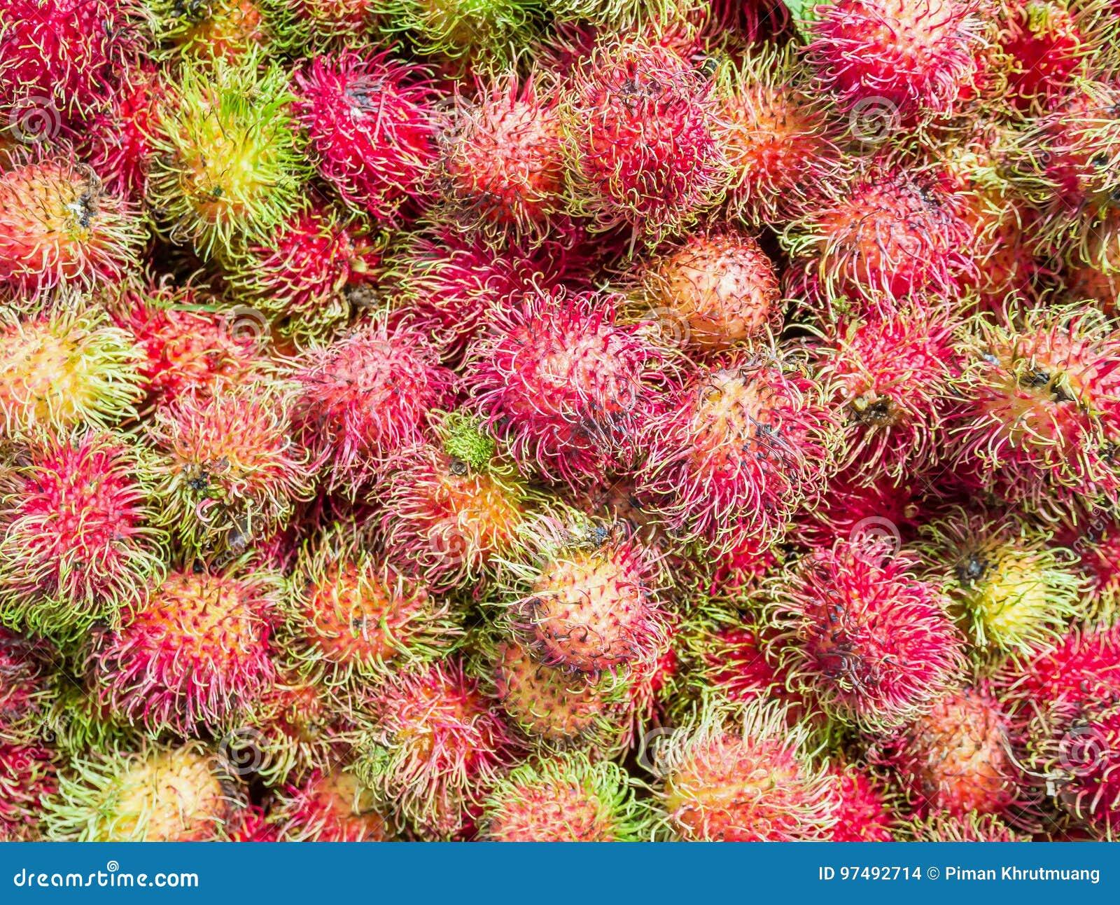 Frutta deliziosa dolce del Rambutan