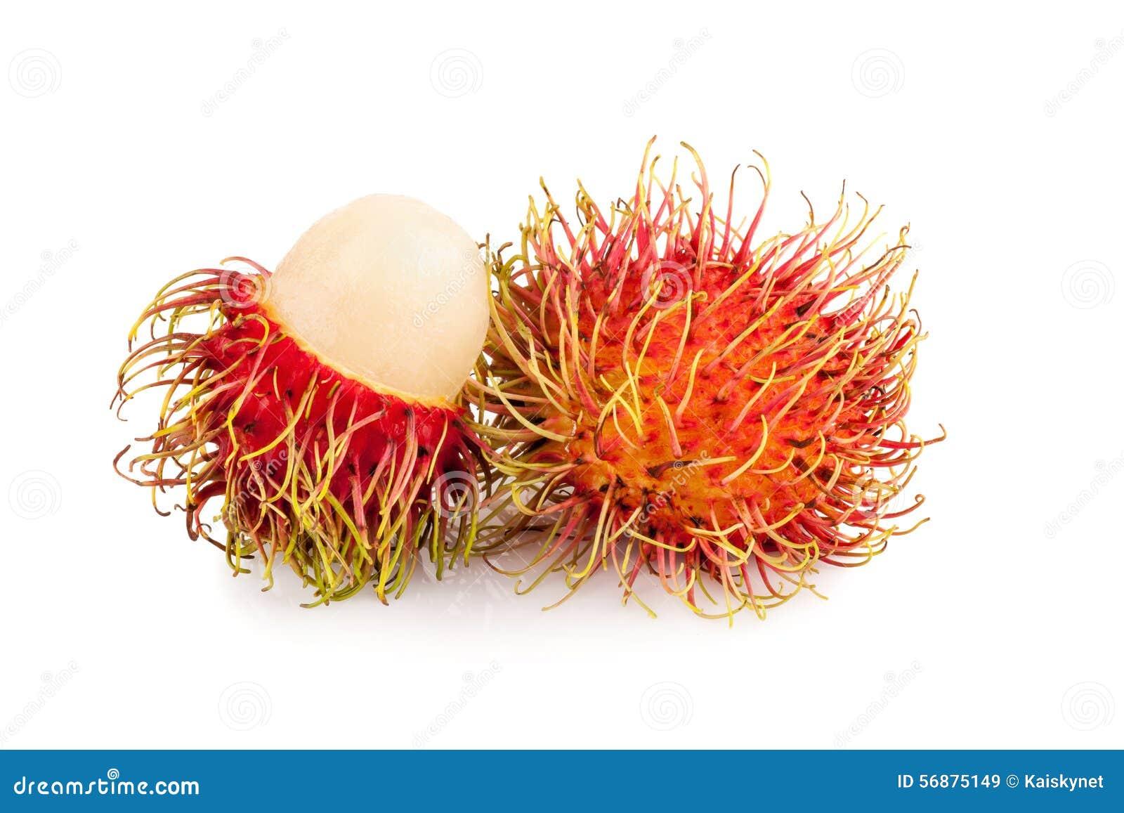 Frutta deliziosa dolce del rambutan fresco della Tailandia