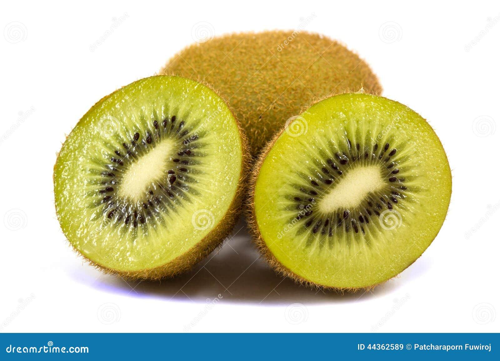 Frutta di Kiwi isolata su priorità bassa bianca