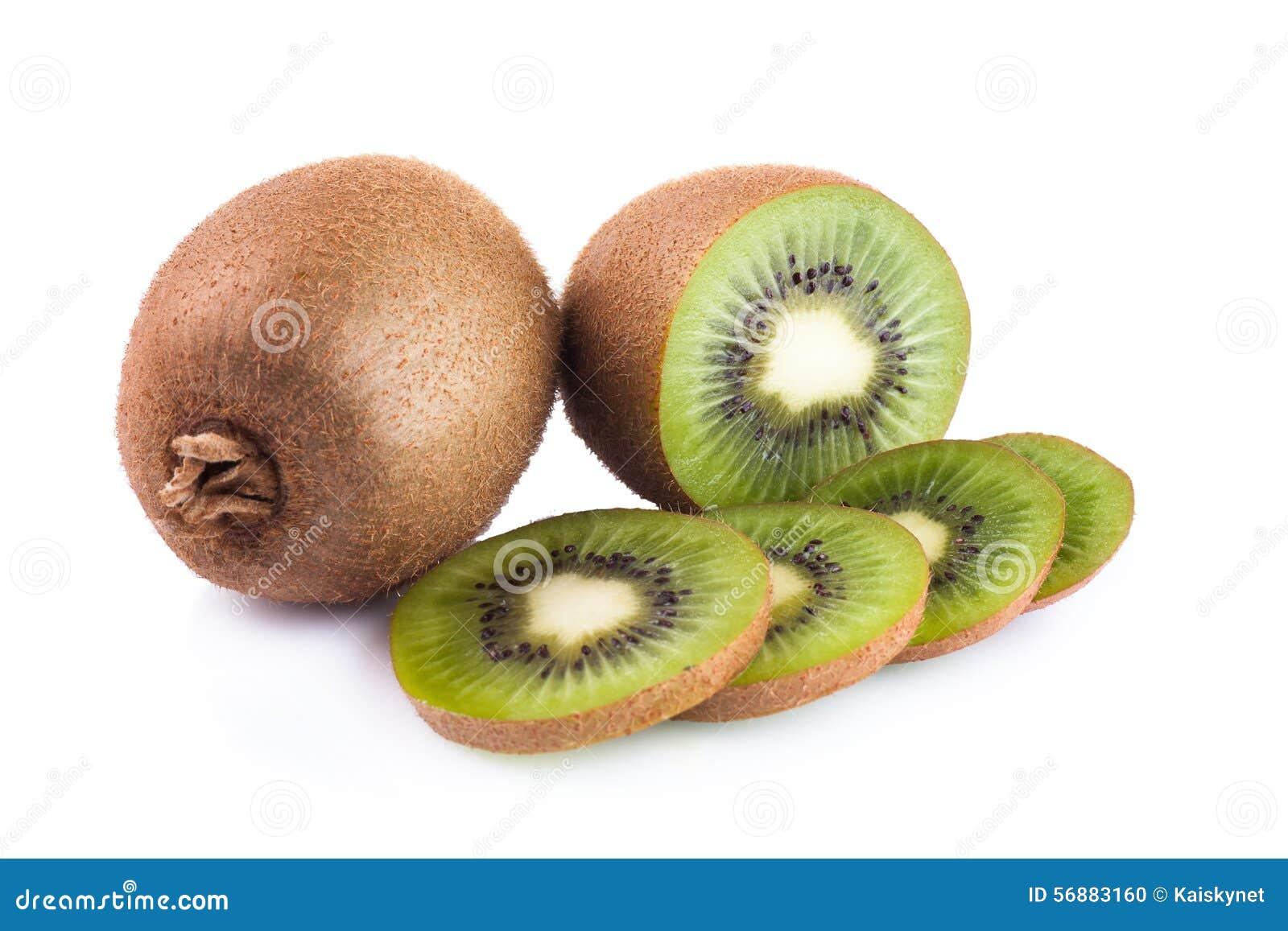 Frutta di Kiwi su una priorità bassa bianca