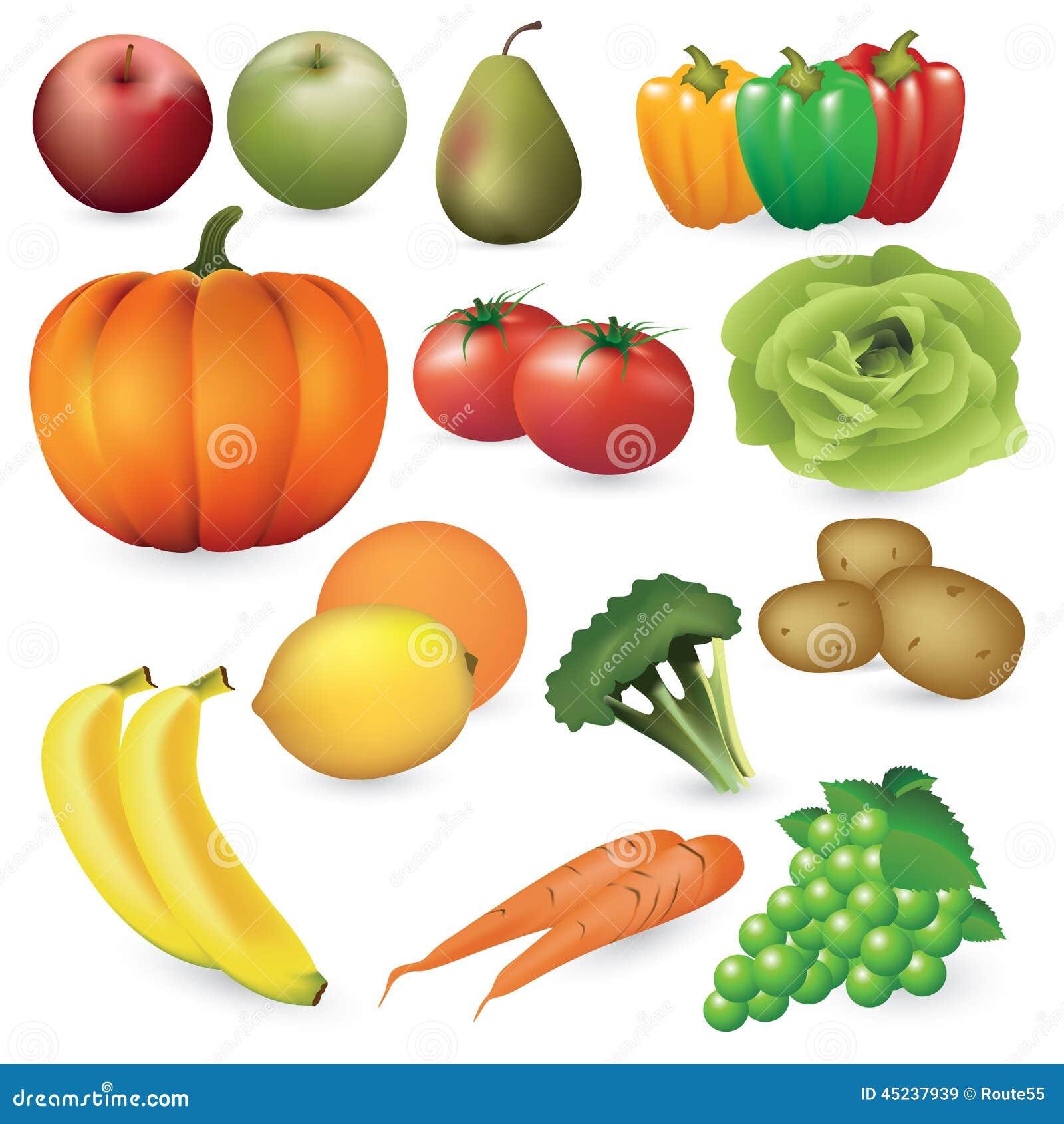 Frutta e verdure illustrazione vettoriale immagine di - Immagine di frutta e verdura ...