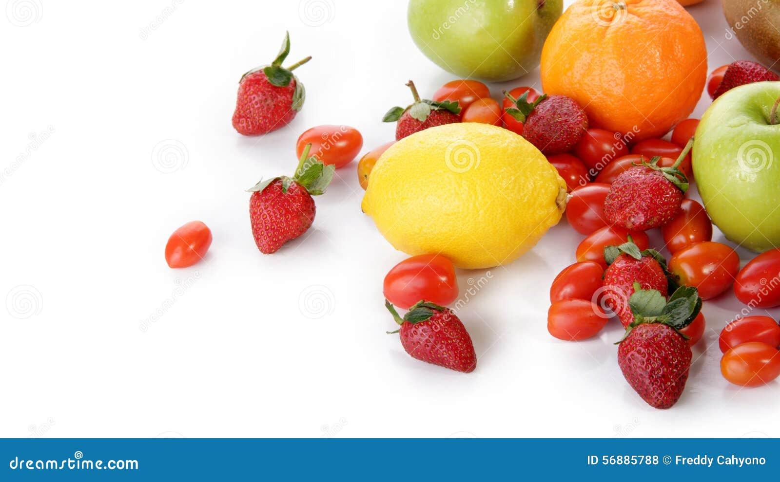 Frutta fresca con copyspace