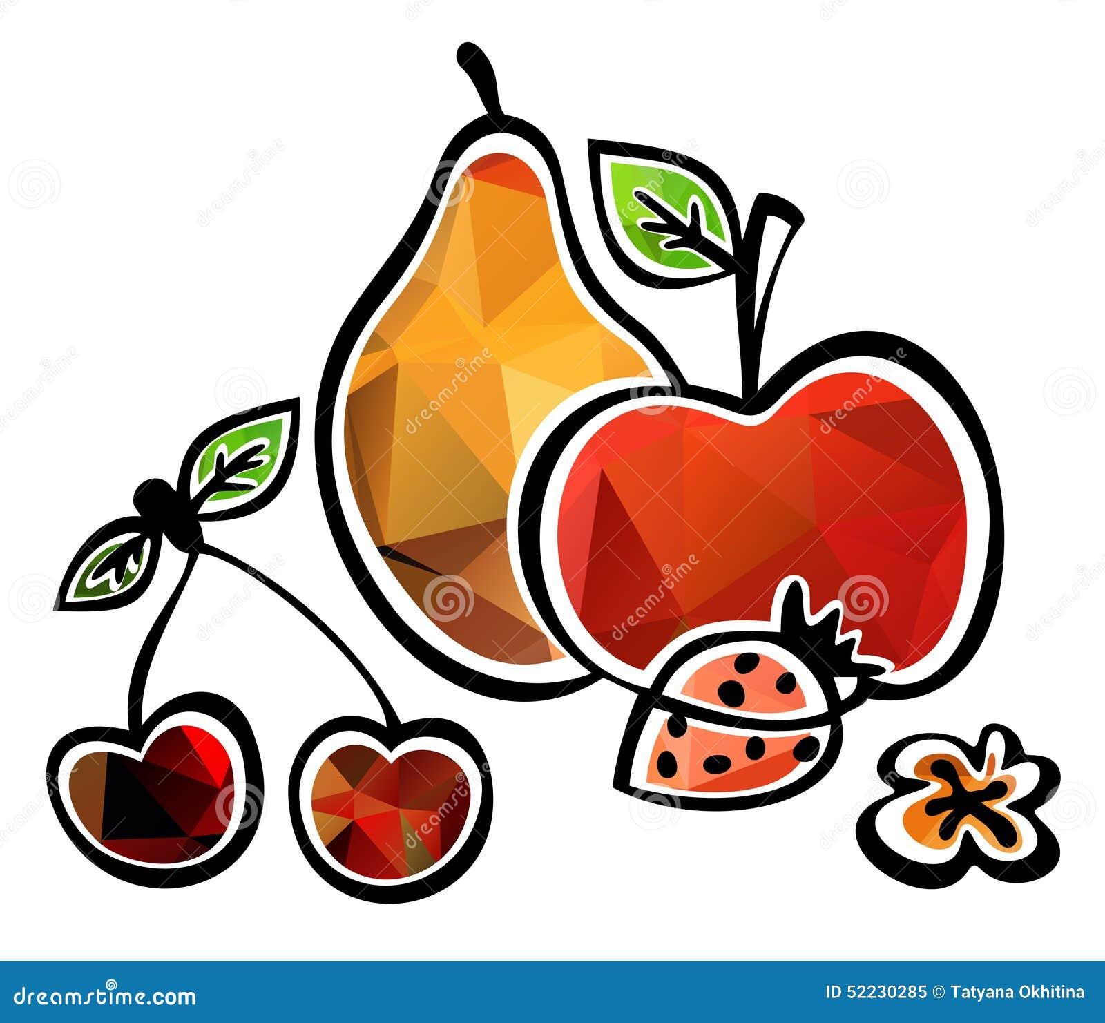 Frutta stilizzata illustrazione di stock illustrazione di for Clipart frutta