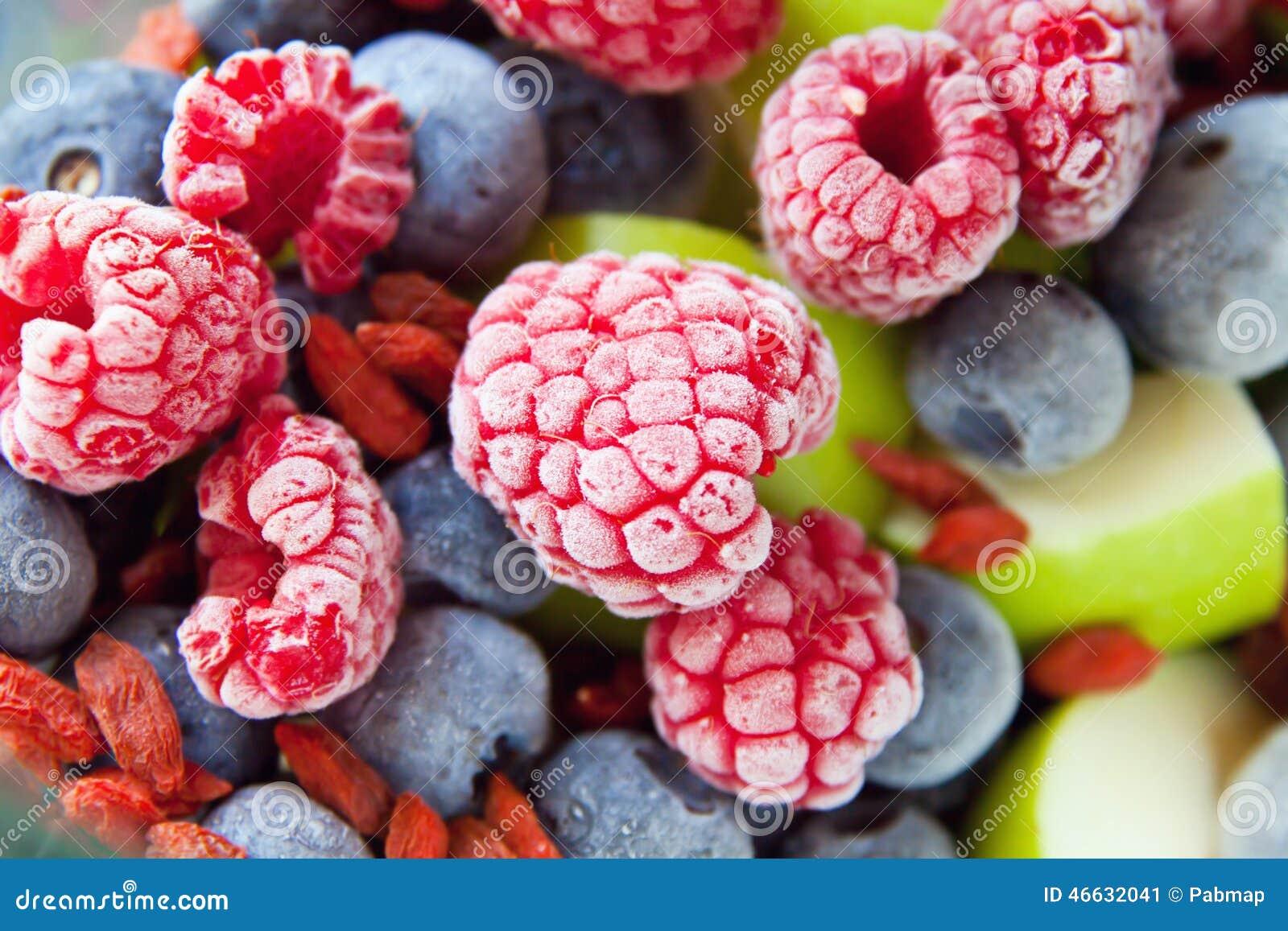 Frutti congelati delle more