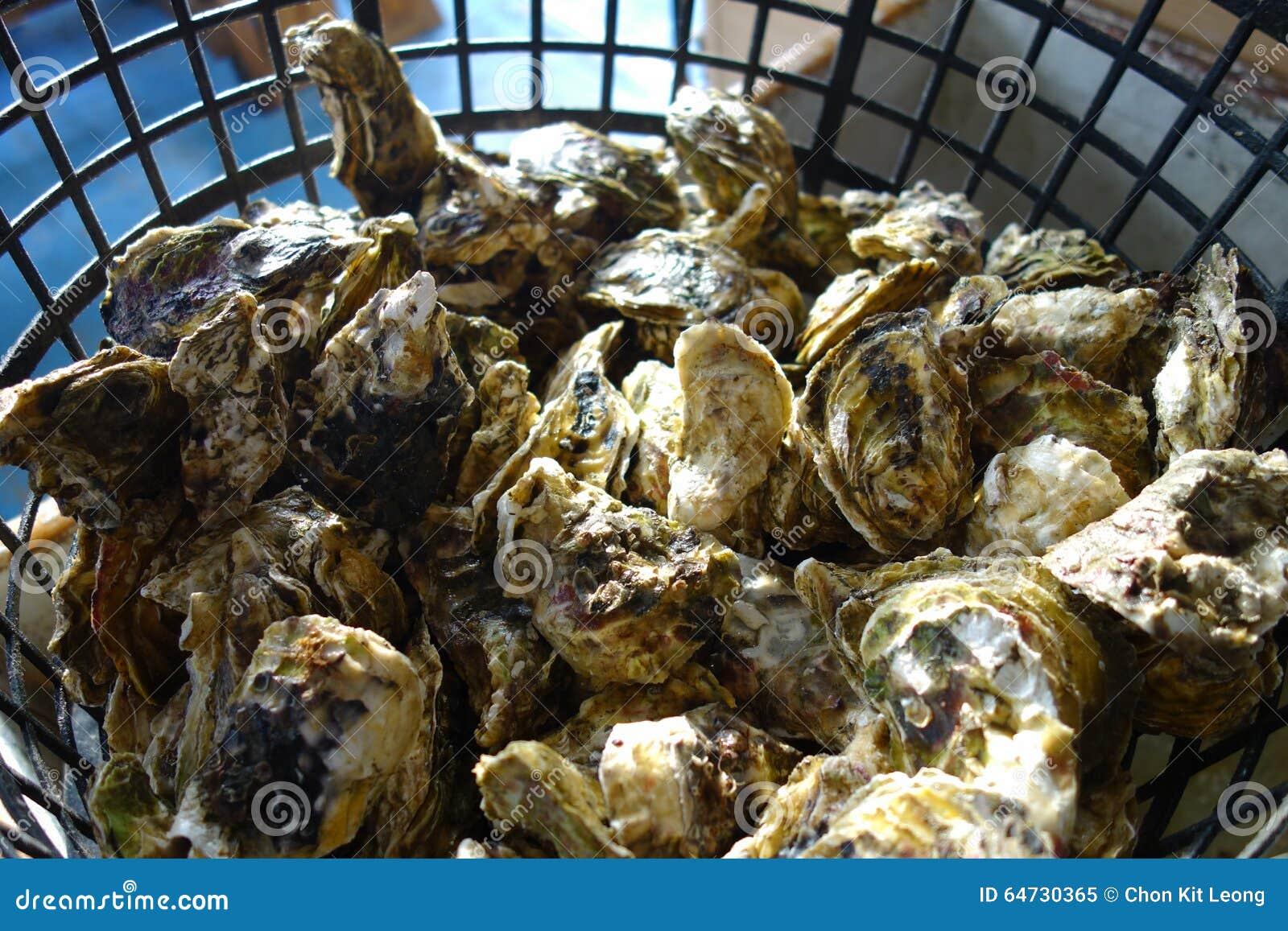 Frutti di mare deliziosi - ostrica cruda