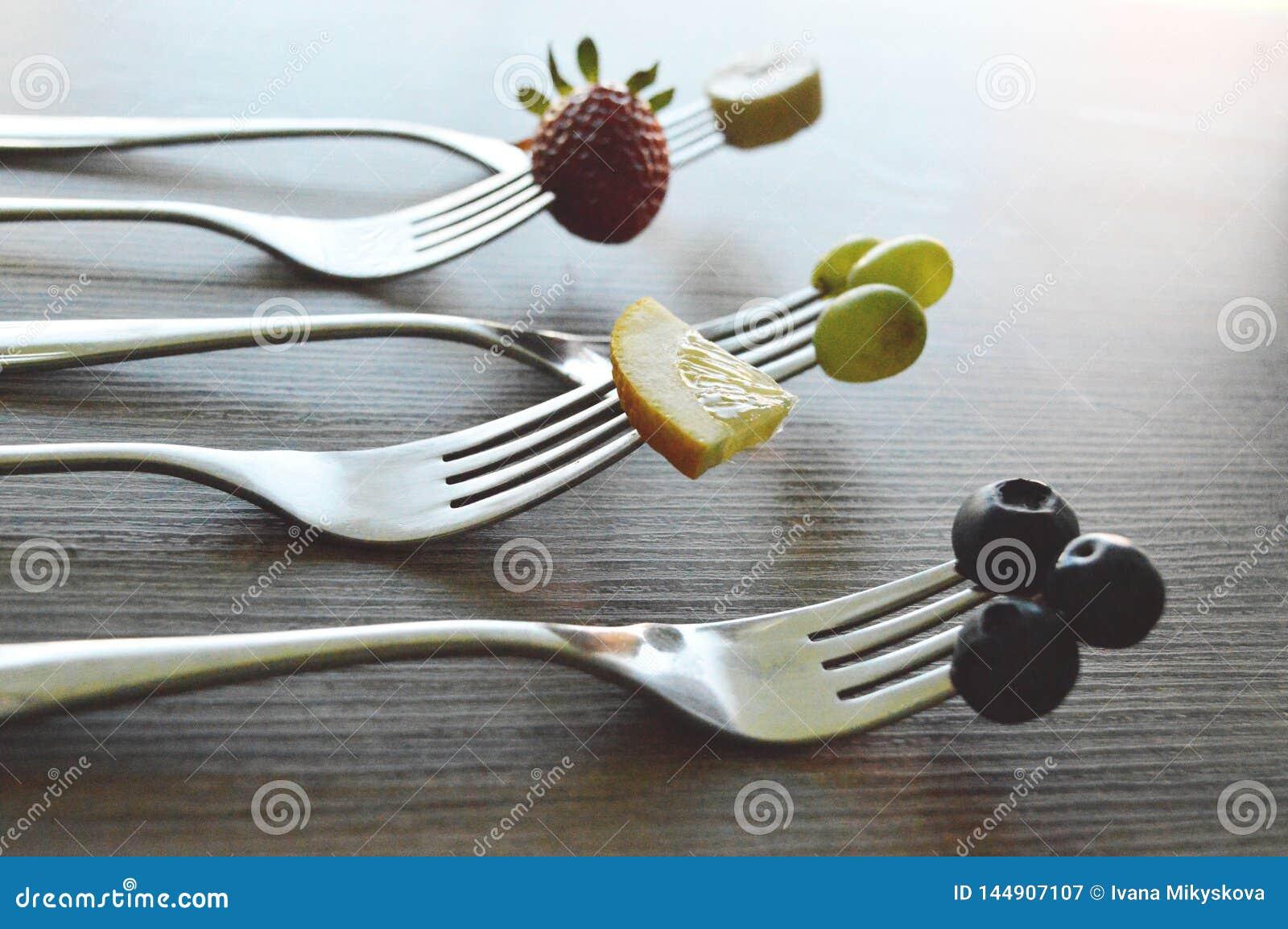Frutti sulla forcella
