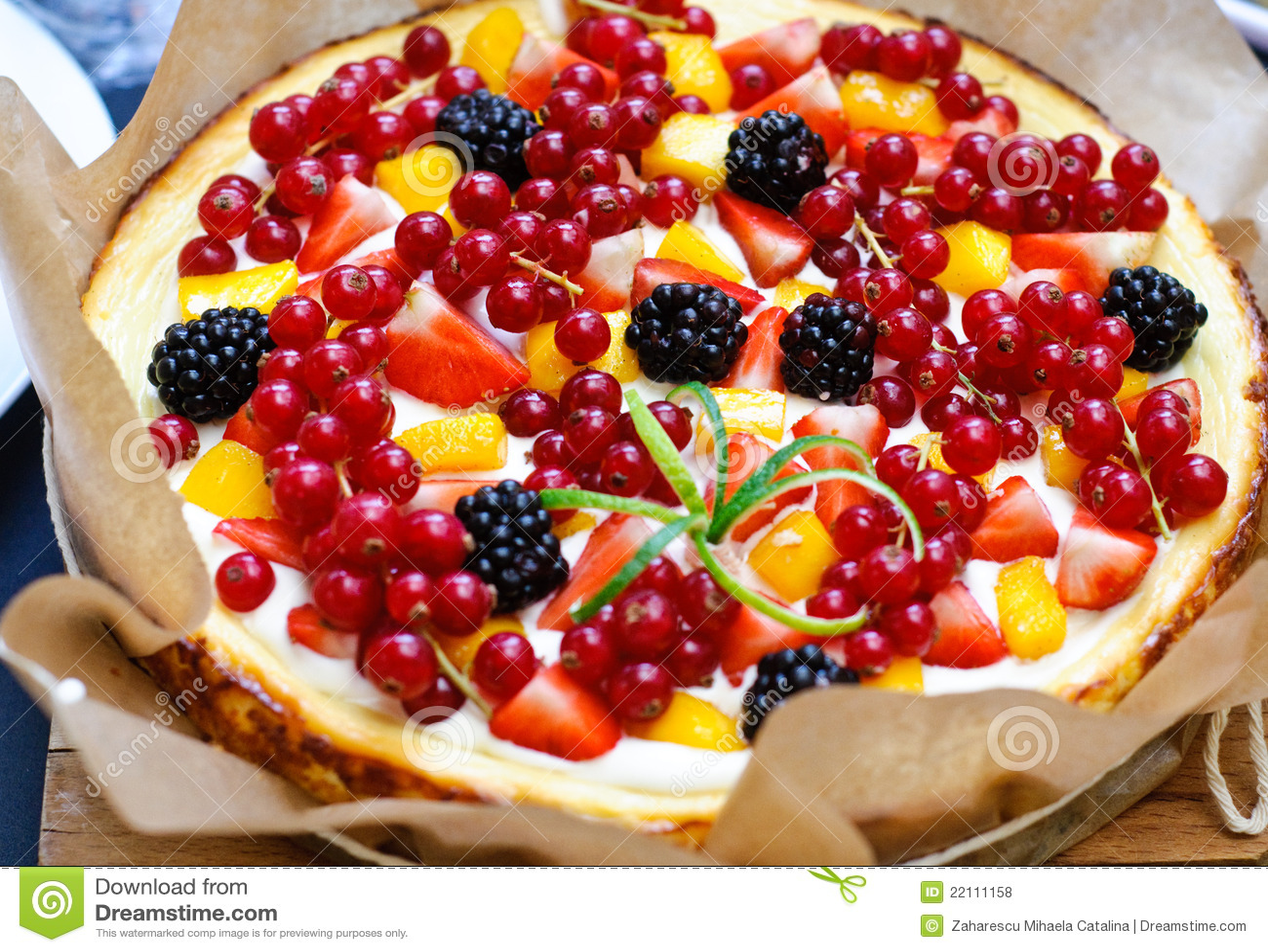 Fruttifica la torta di formaggio della vaniglia