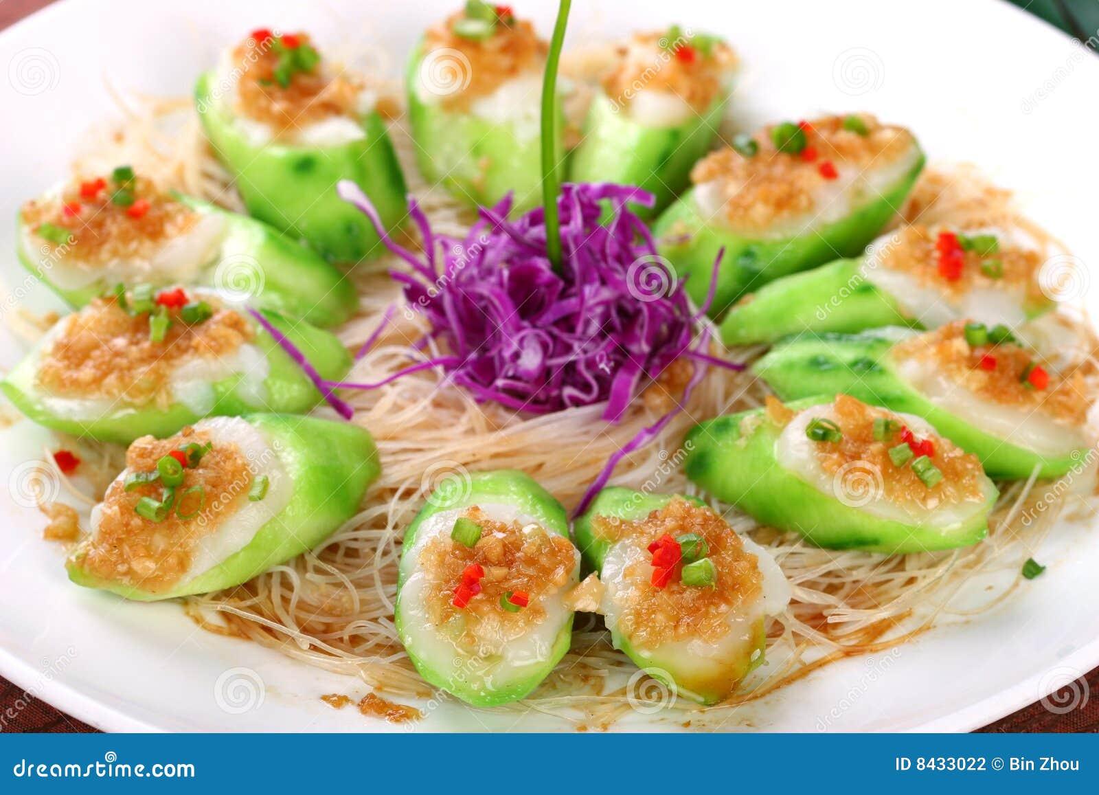 Fry asian food-towel gourd