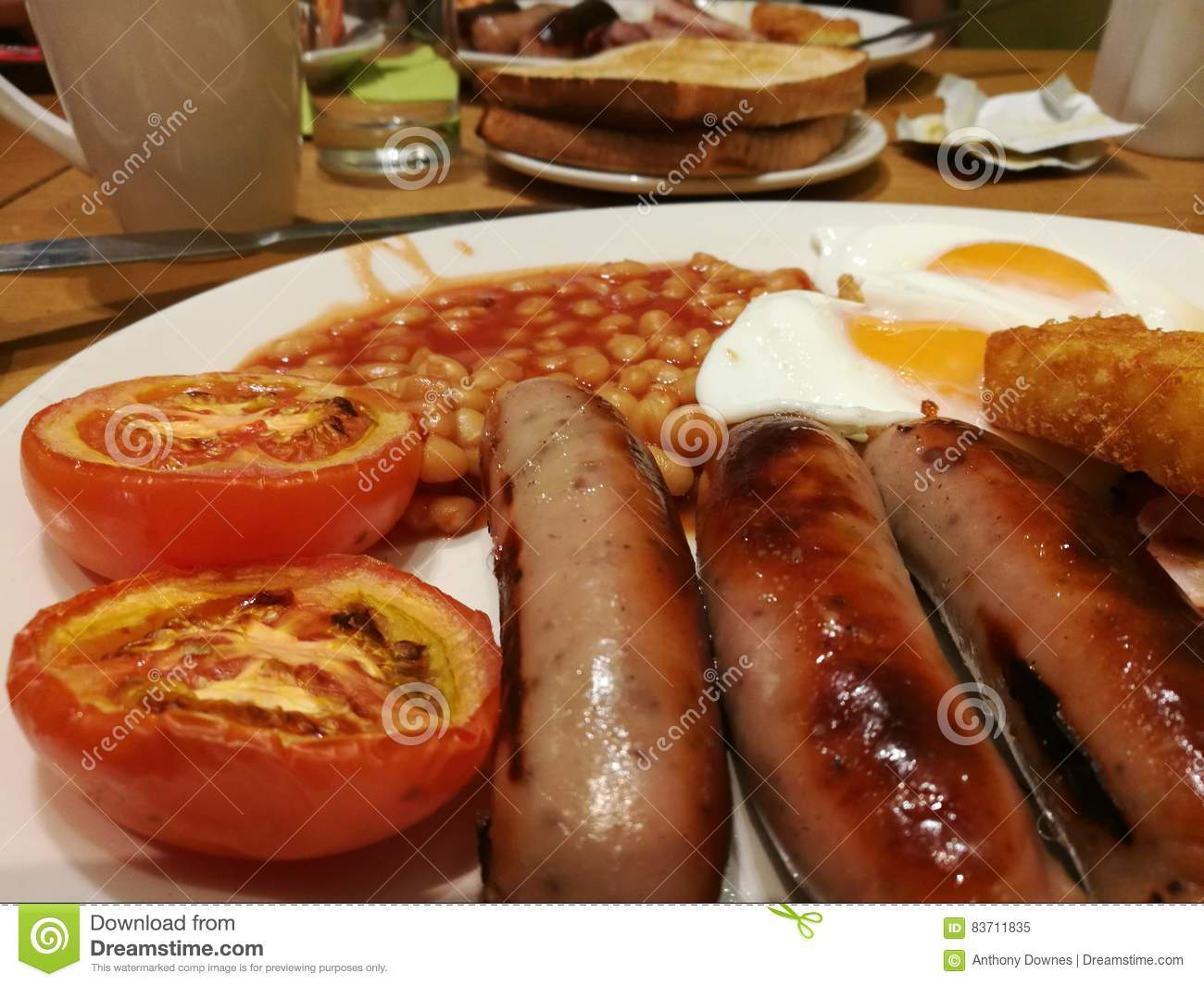 Fry Up For Breakfast Stock Photo