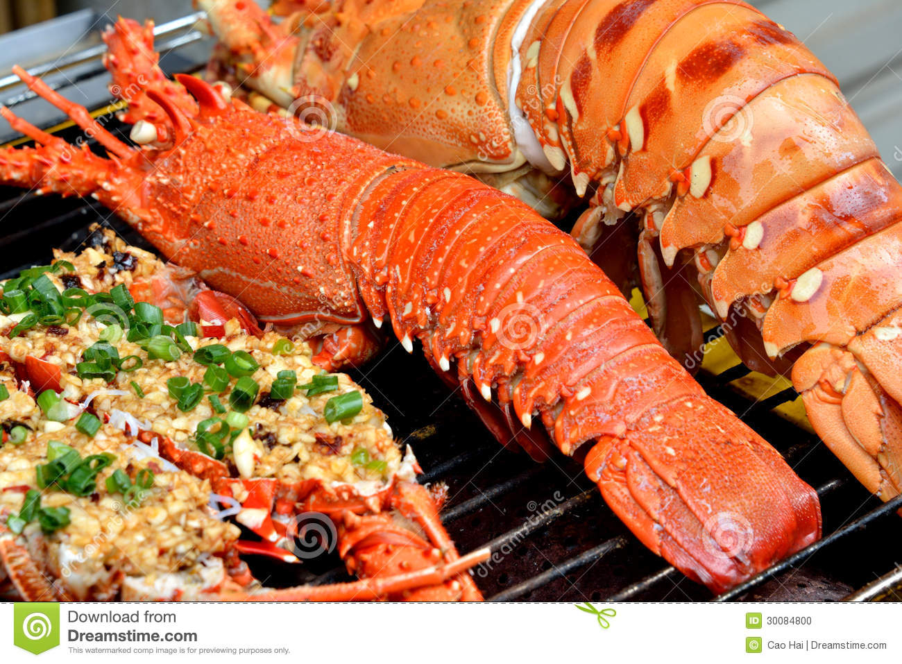 Lobster And Toast Dishes Stock Photo - Image: 30084800