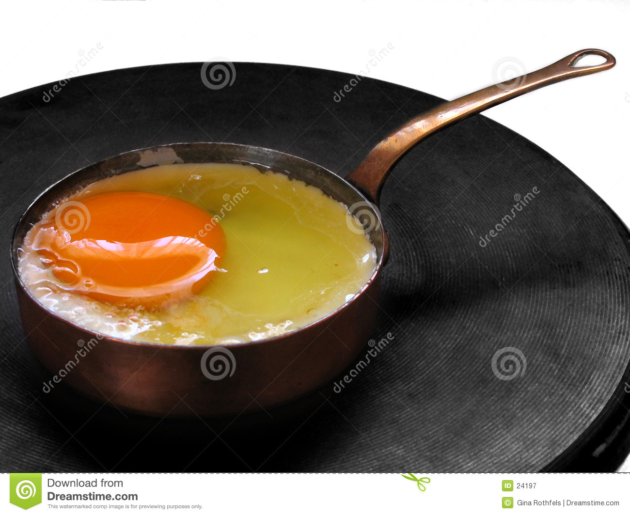 Frying an egg (in a miniature pan)