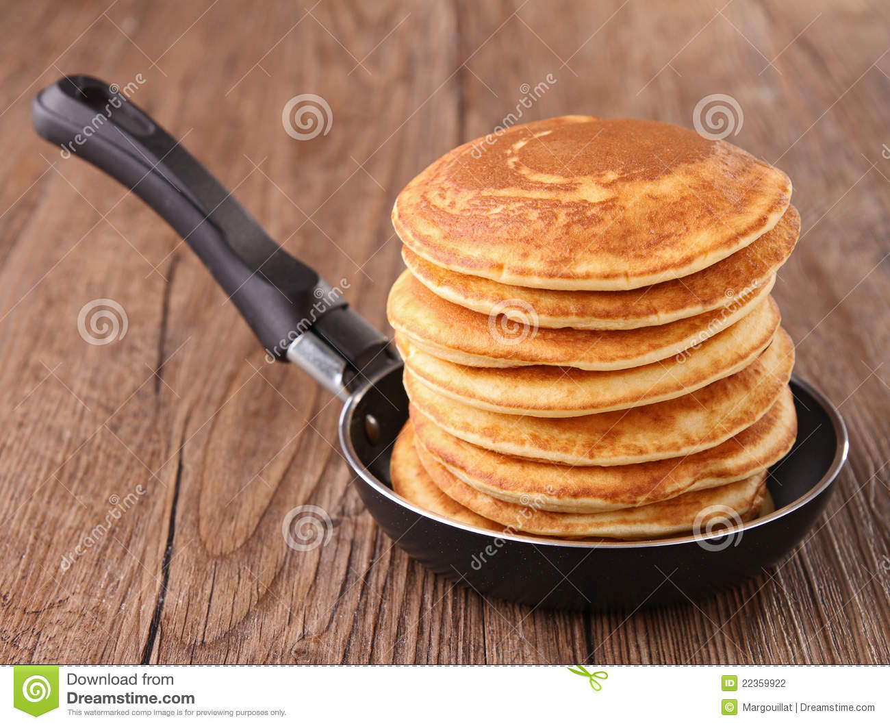 Frying Pan With Pancakes Stock Photography Image 22359922