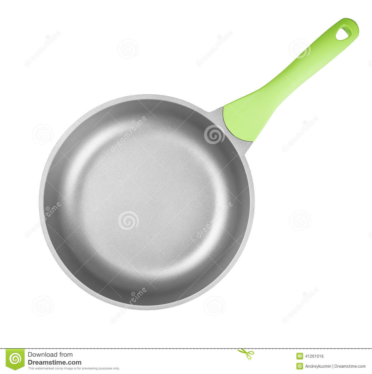Frying Pan Or Skillet Top View Isolated With Clipping Path