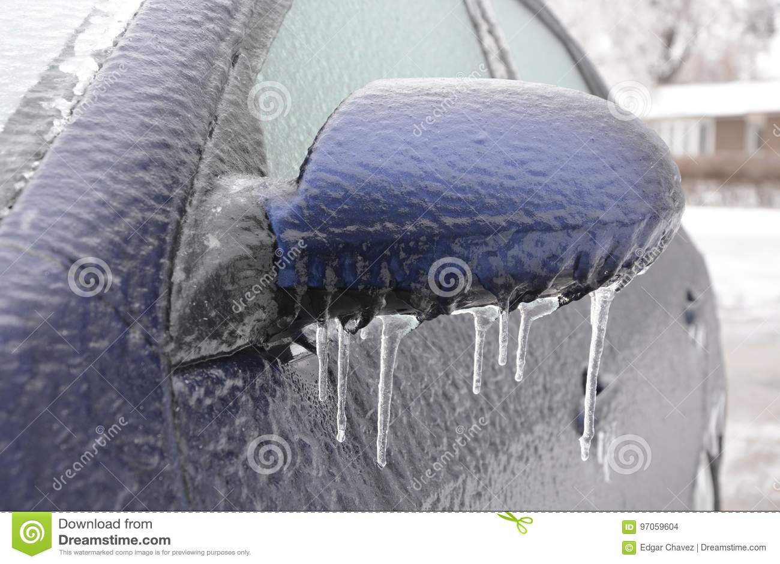 Fryst bil