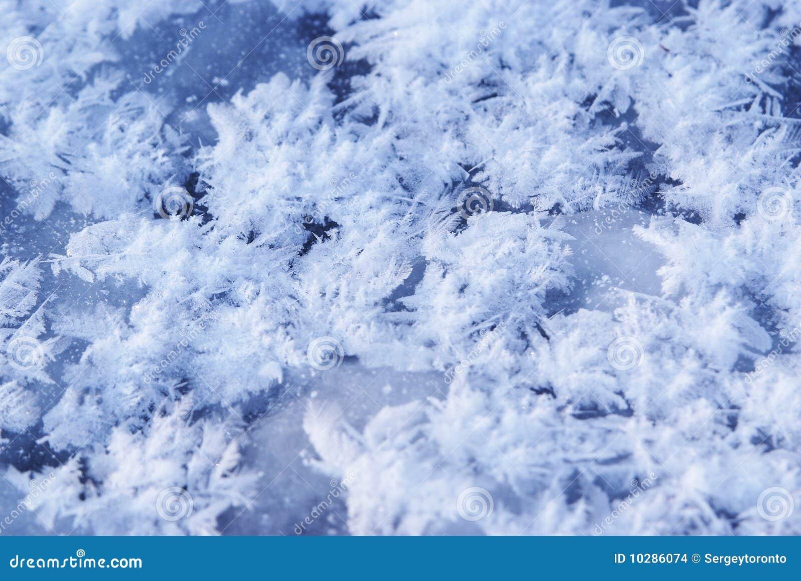 Fryst is för bakgrundsblue flakes