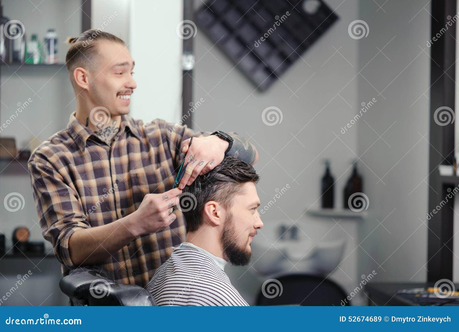 Fryzjer męski ciie włosy mężczyzna