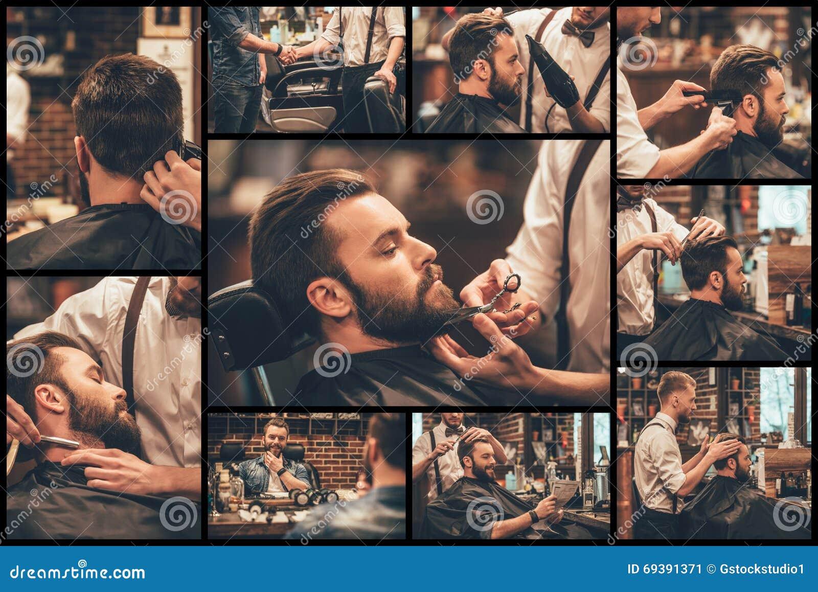 Fryzjer męski przy pracą