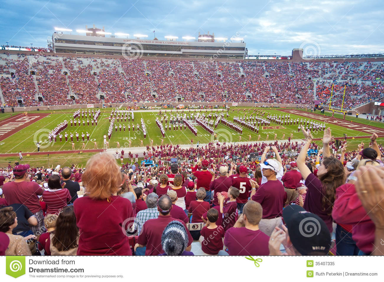 FSU College Football Editorial Image Image 35407335