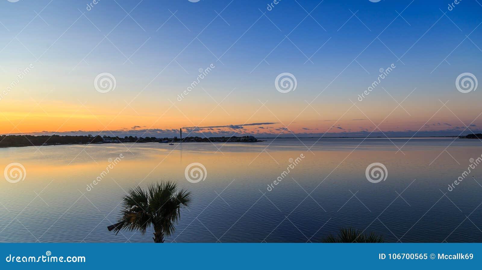 Ft  Walton Beach Side View Of Choctawhatchee Bay Sunrise