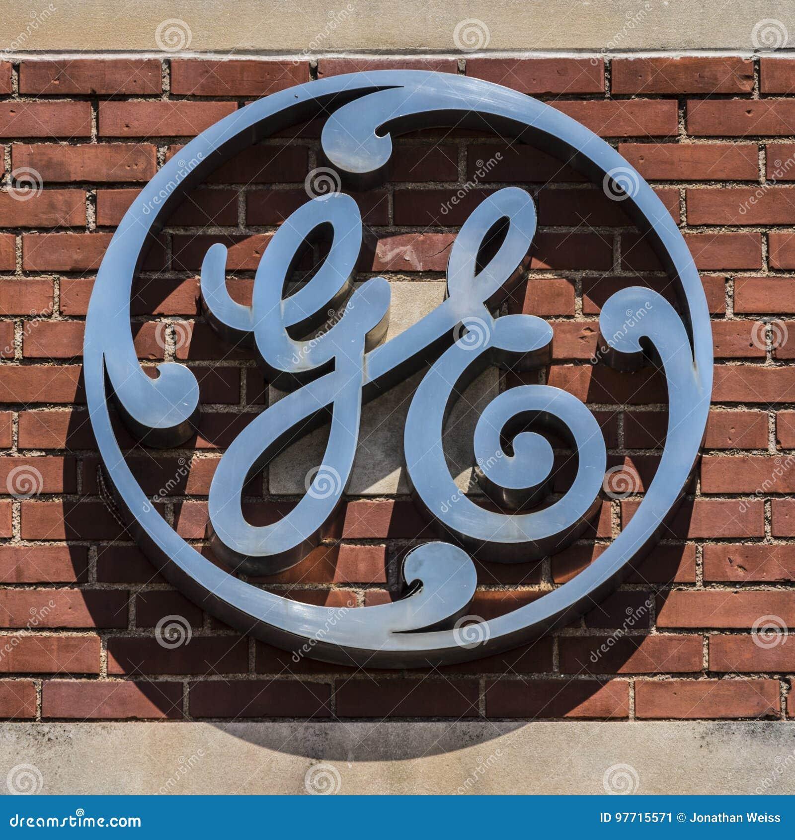 Ft  Wayne - Circa August 2017: General Electric Factory Logo  GE