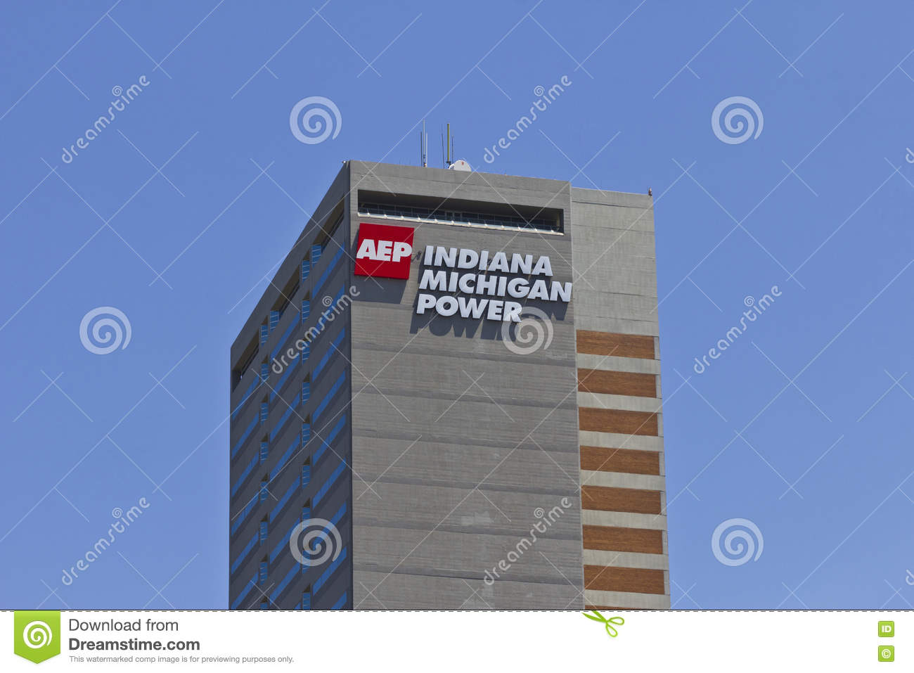 aep power michigan indiana wayne headquarters circa division ft july center electric american preview