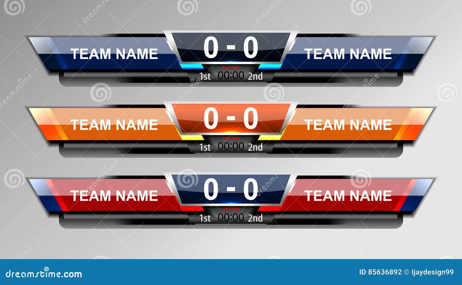 Fußball-Ergebnis-Sendungs-Grafiken