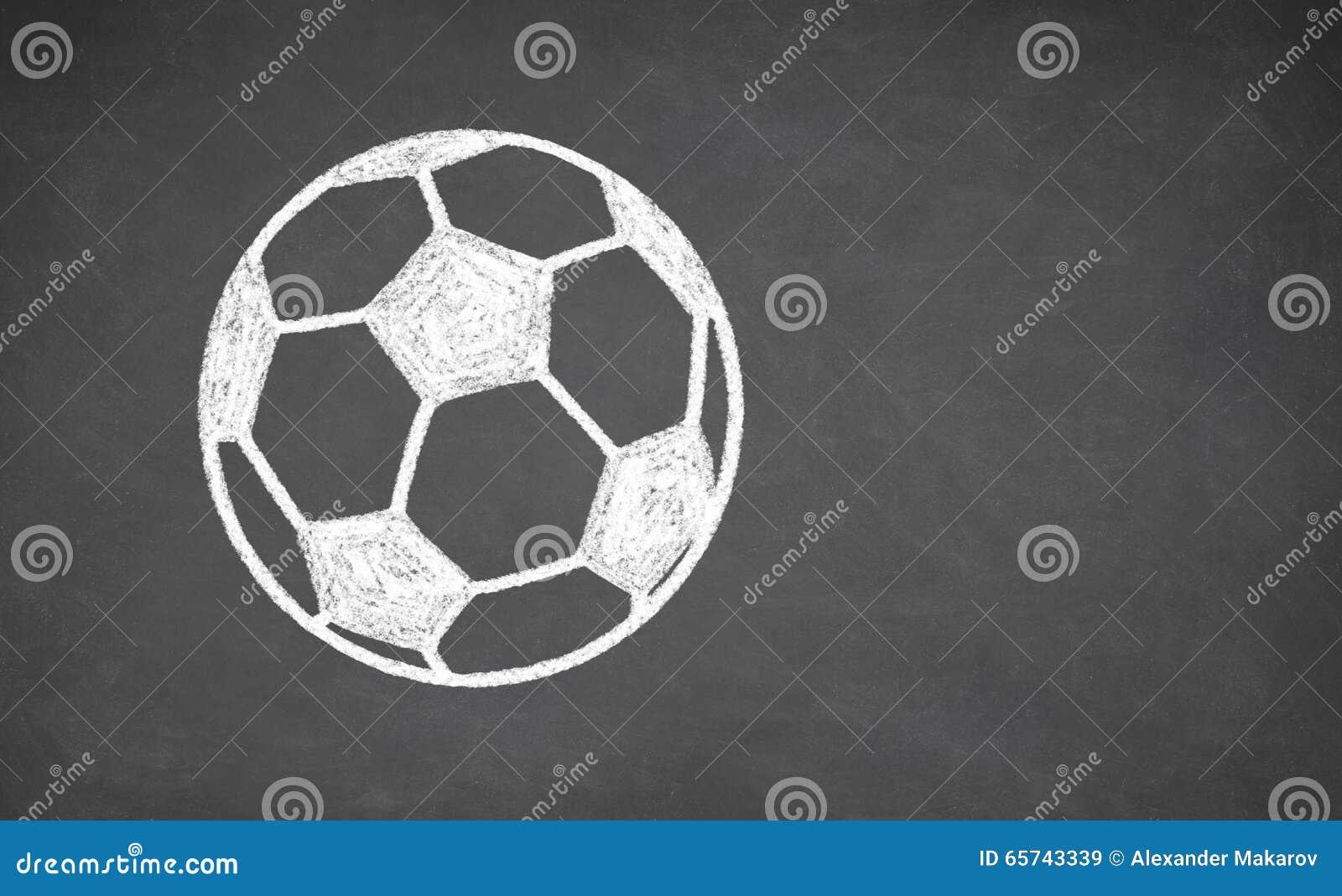 Fussball Gezeichnet Auf Tafel Stockbild Bild Von