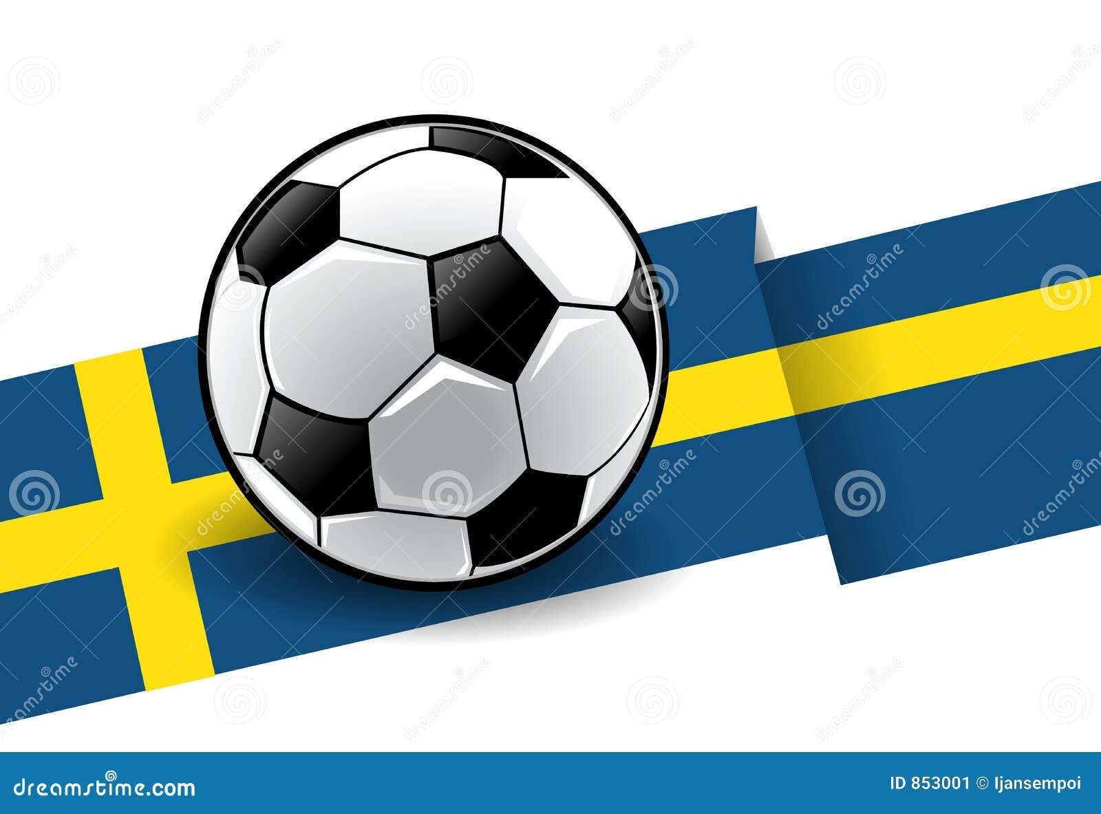 Fußball mit Markierungsfahne - Schweden