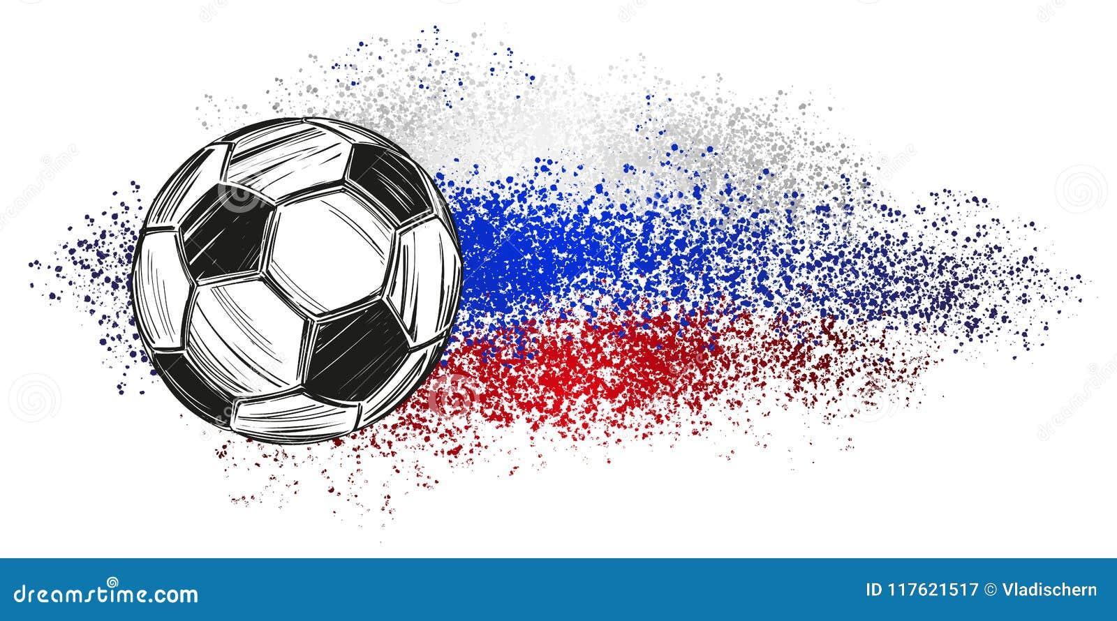 Fussball Fussball Russisches Flaggensportspiel