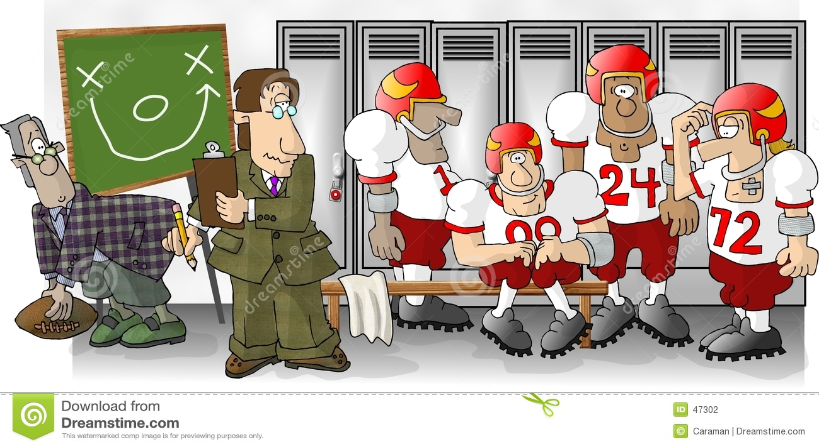 Fußball-Umkleideraum