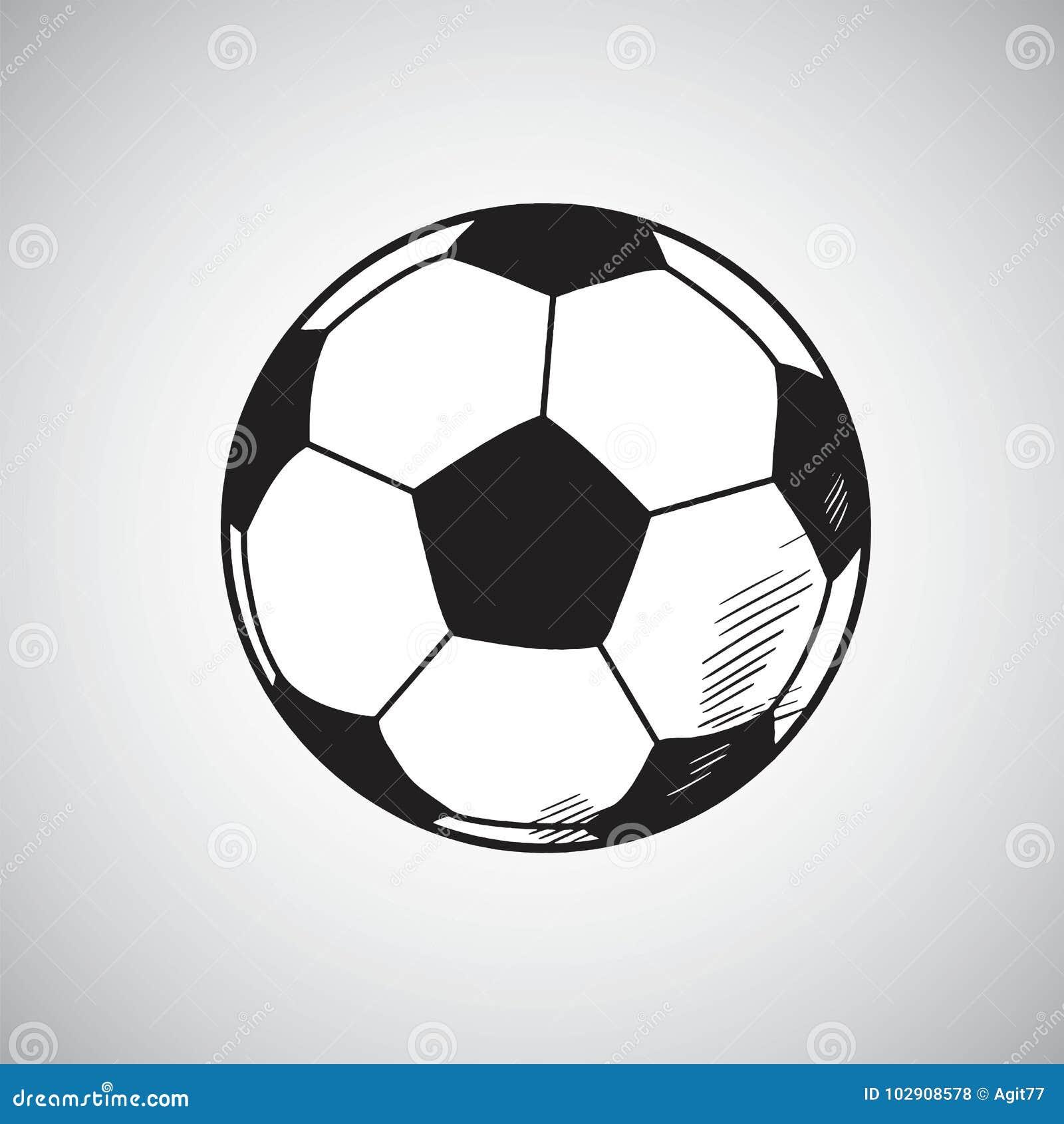 Fussball Vektor Zeichnungs Hand Gezeichnet Vektor Abbildung
