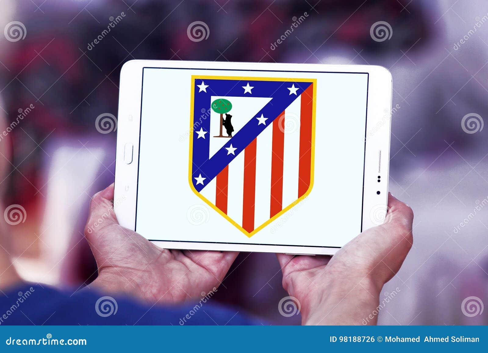 Fußball Vereinlogo Atletico Madrid Redaktionelles Foto Bild Von