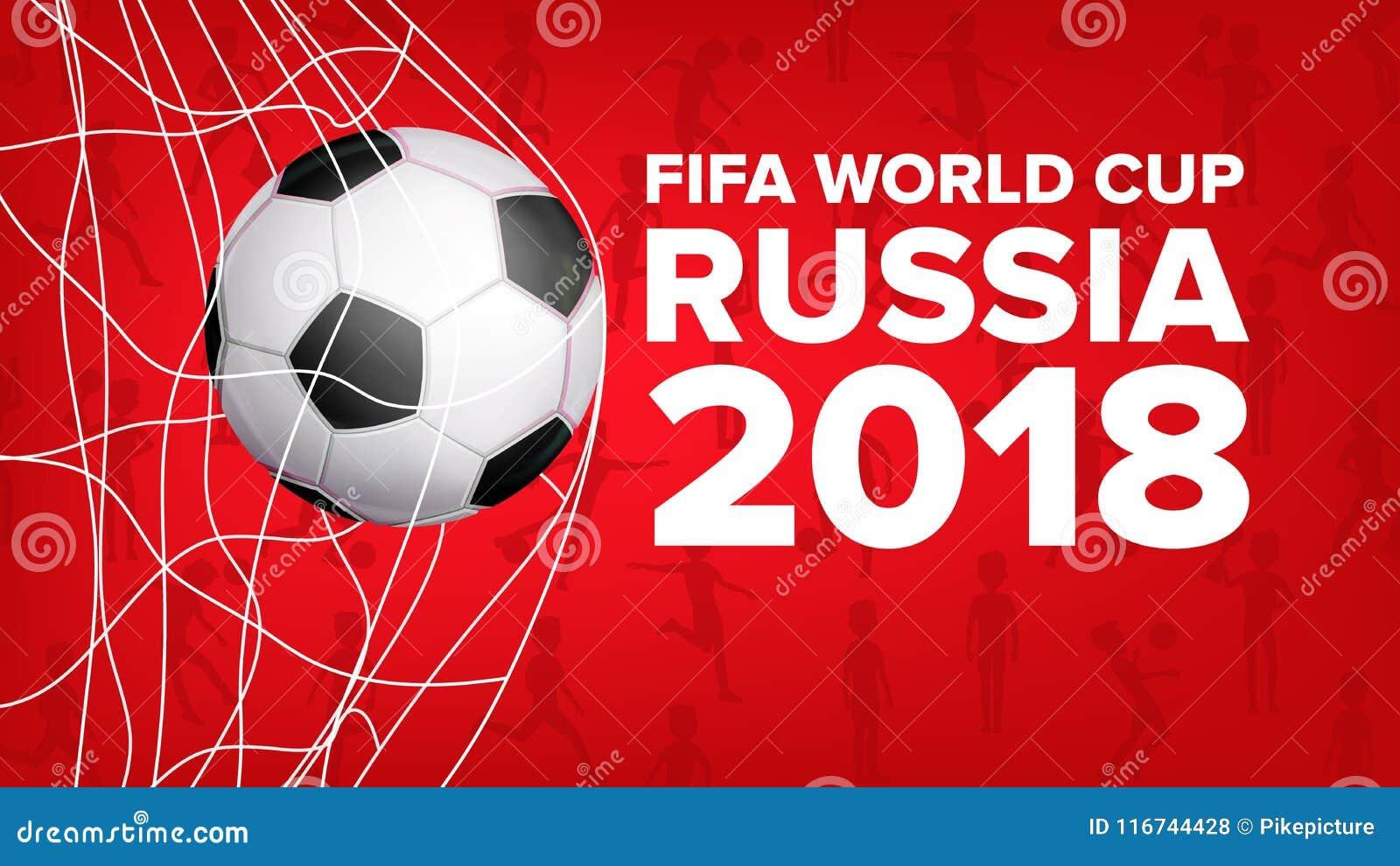 Fussball Weltmeisterschafts Fahnen Vektor 2018 Russland
