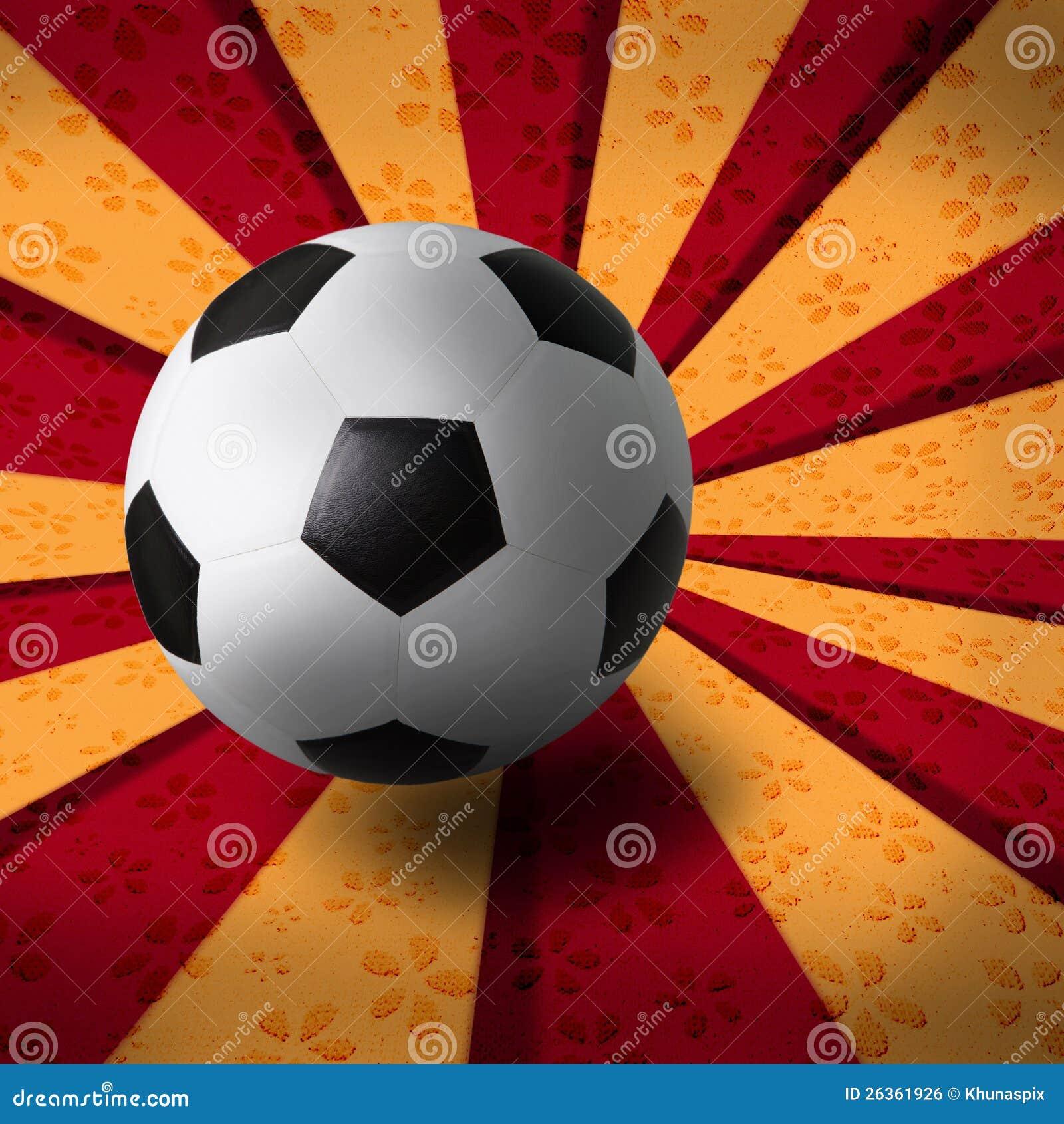 Fußballfußball auf Strahlhintergrund