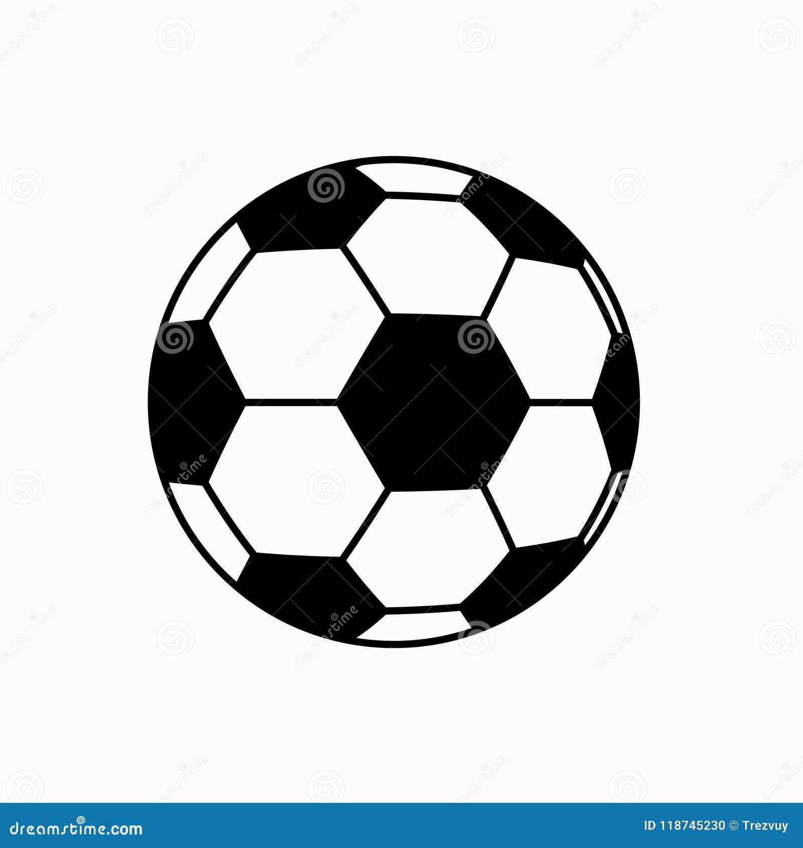 Fussballfussballikone Auf Weissem Hintergrund Vektor Abbildung