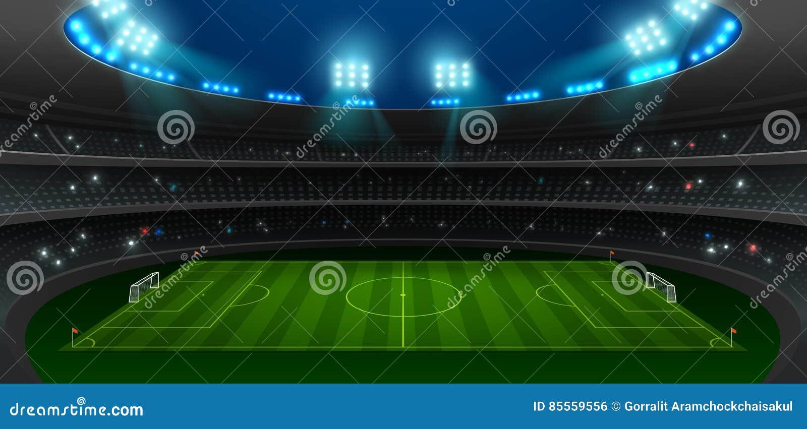 Fußballfußballstadionsscheinwerfer