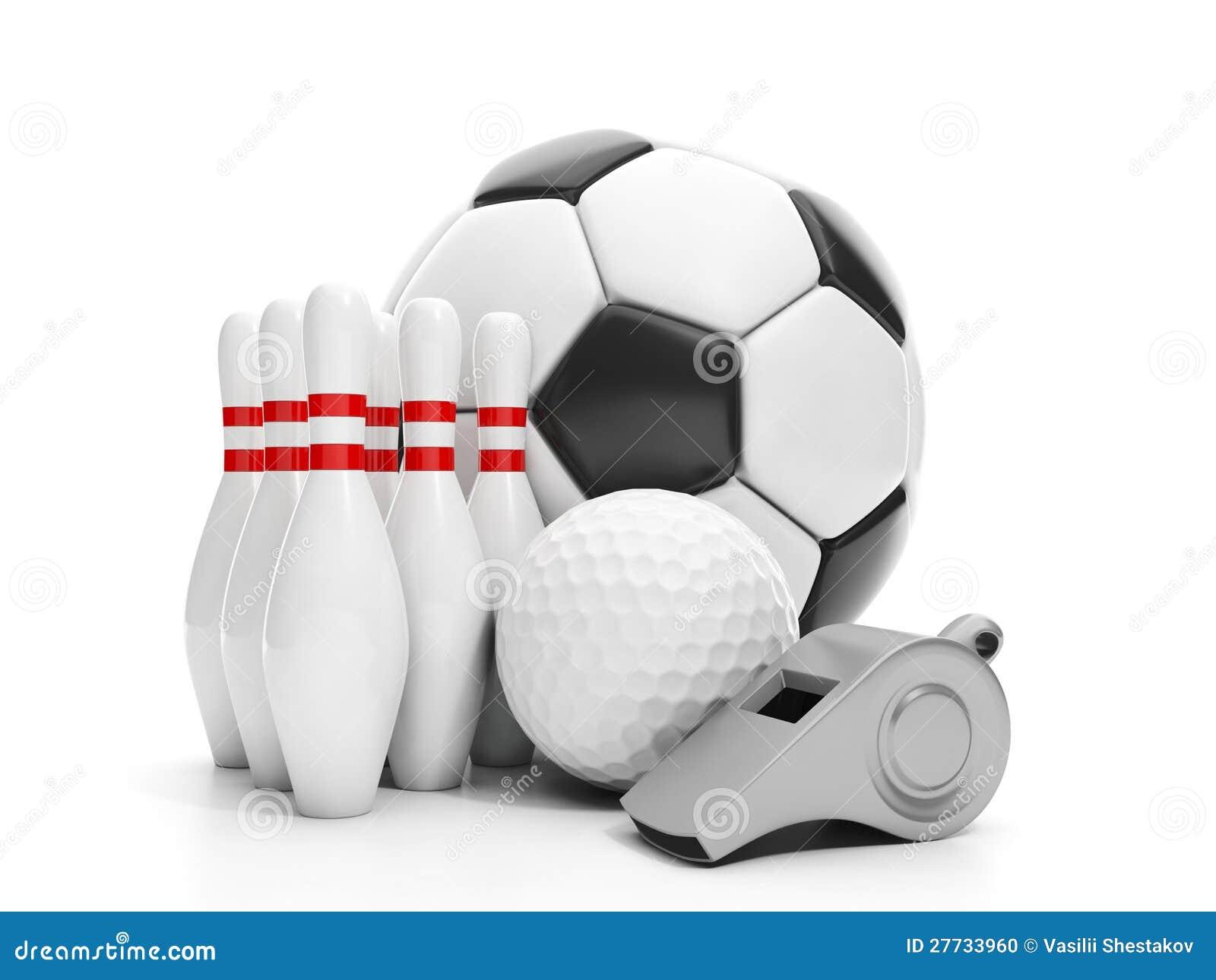 Fußballkugel, Golfball,