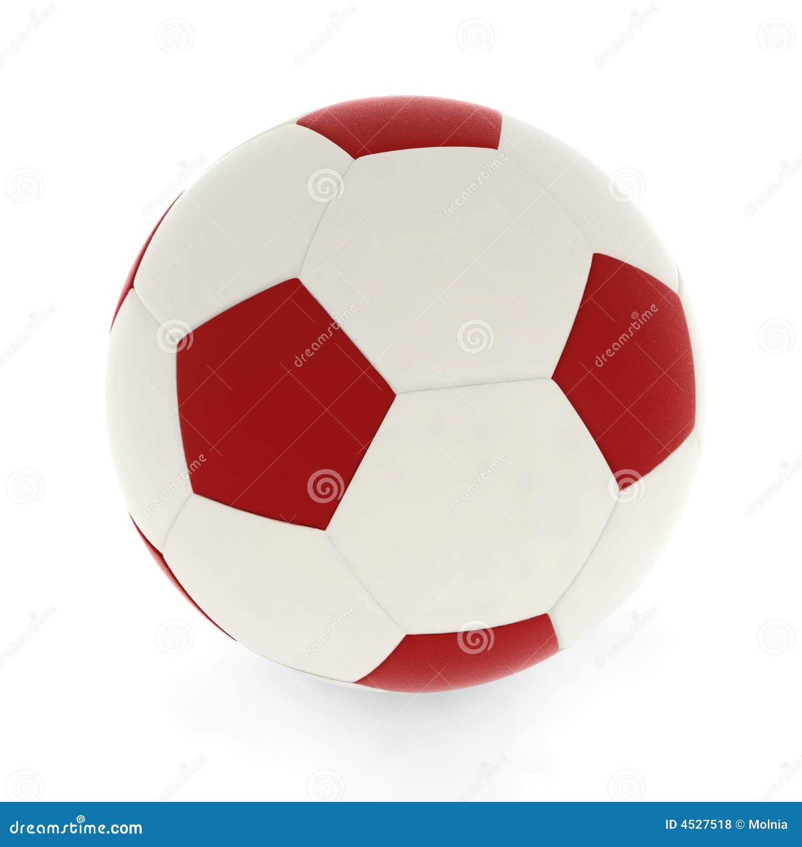 Fußballkugelrot