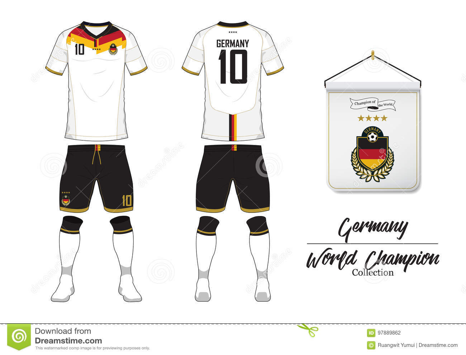 Fußballtrikot Oder Fußballausrüstung Deutschland ...