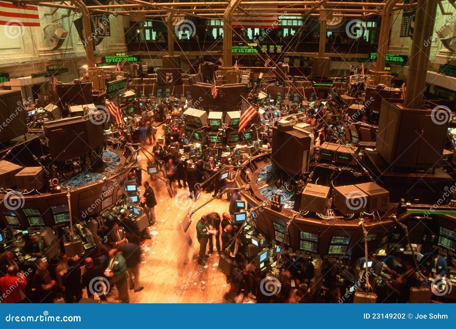 Fußboden Nord ~ Fußboden des börse von new york redaktionelles stockfotografie