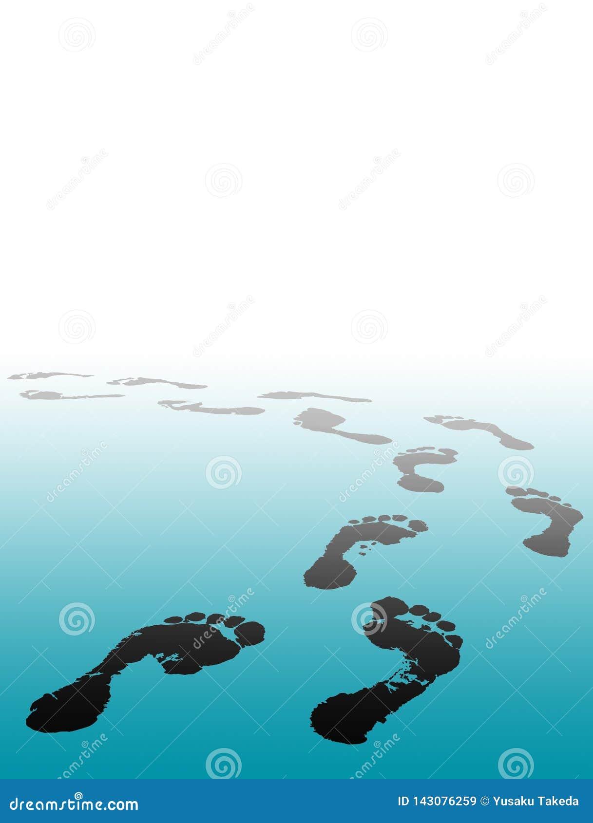 Fußdruck wählen Ihre Zukunft